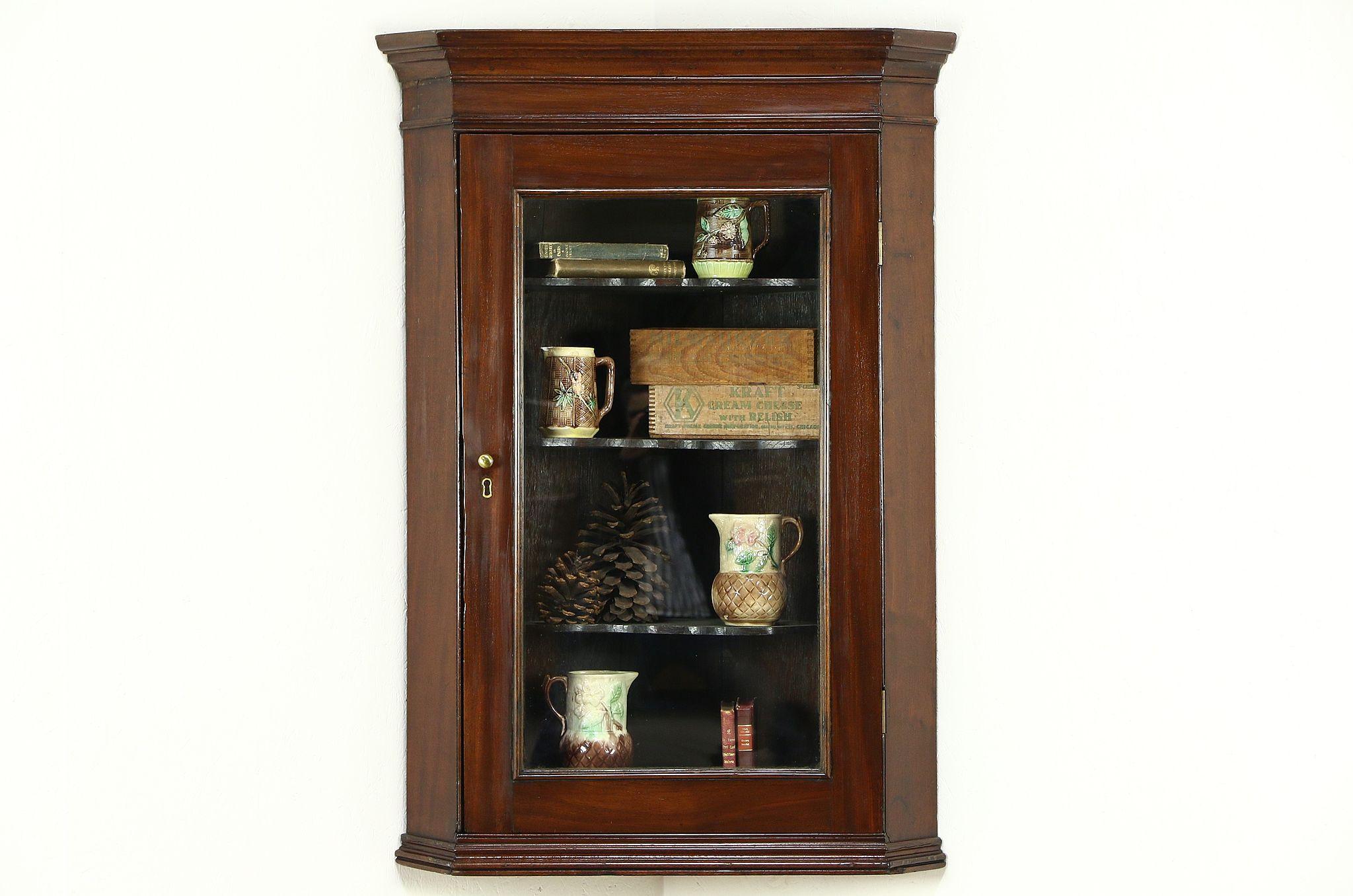 Sold English Georgian 1830 Antique Hanging Cupboard Or