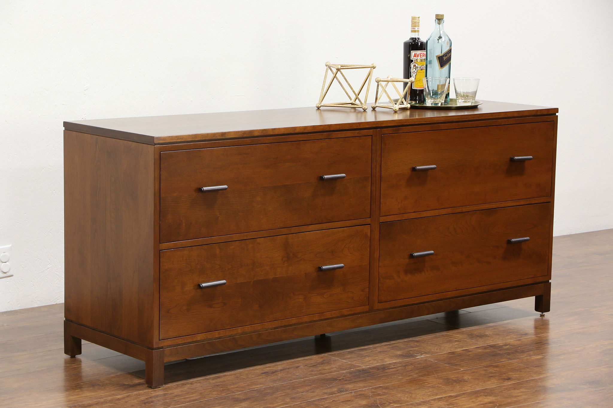 Stickley Signed Cherry 2014 Library Or Executive Lateral File Cabinet