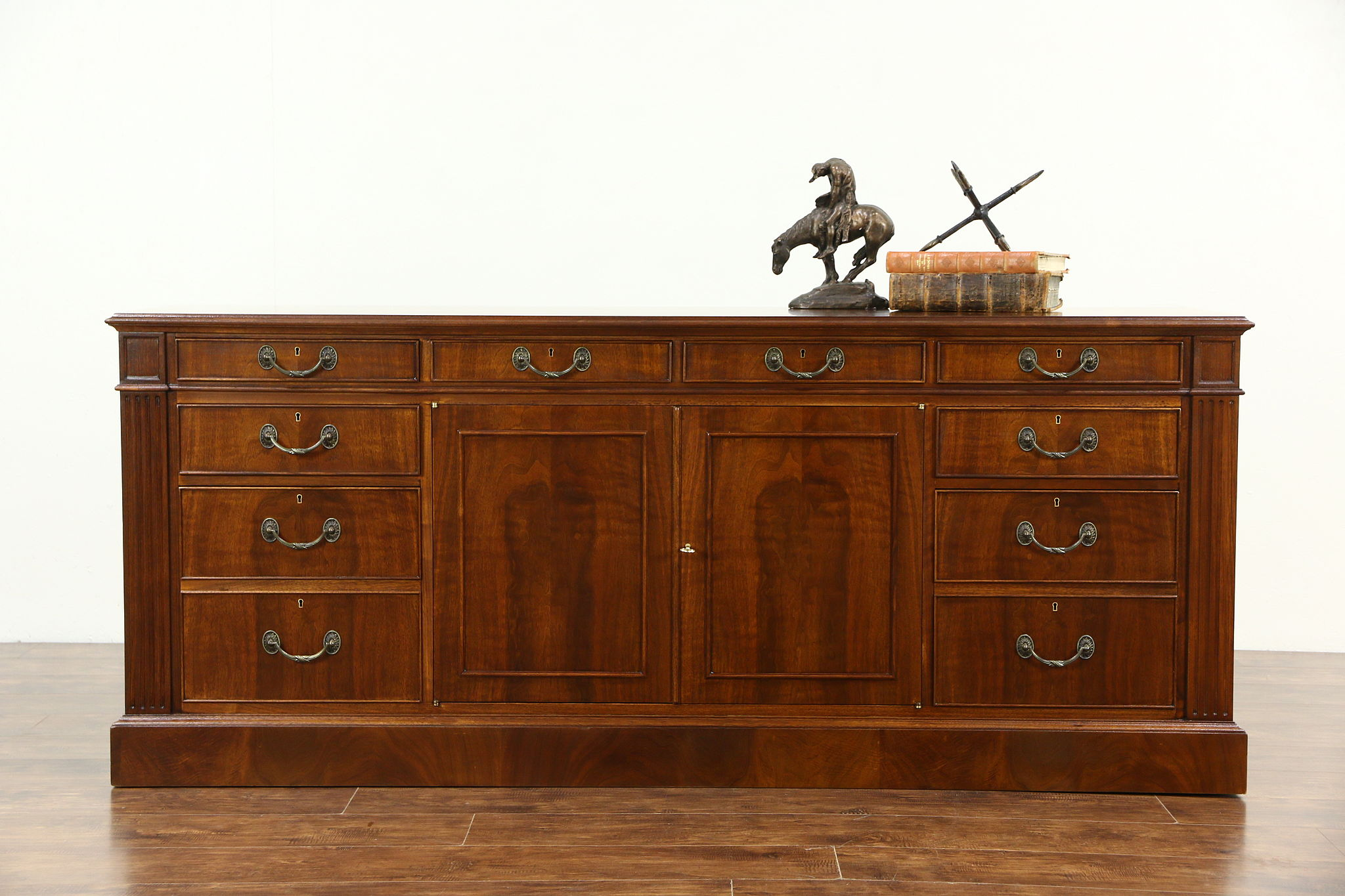 SOLD - Custom Walnut Executive Vintage Credenza & Lateral File ...