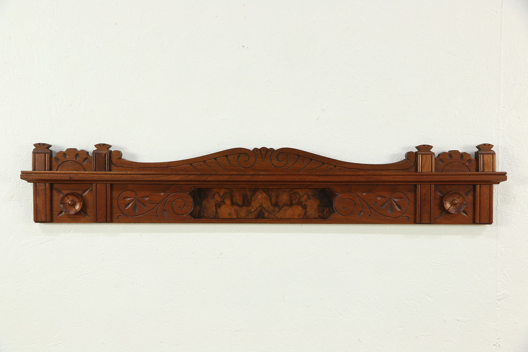 Victorian Eastlake Spoon Carved Walnut Burl Antique Architectural ...