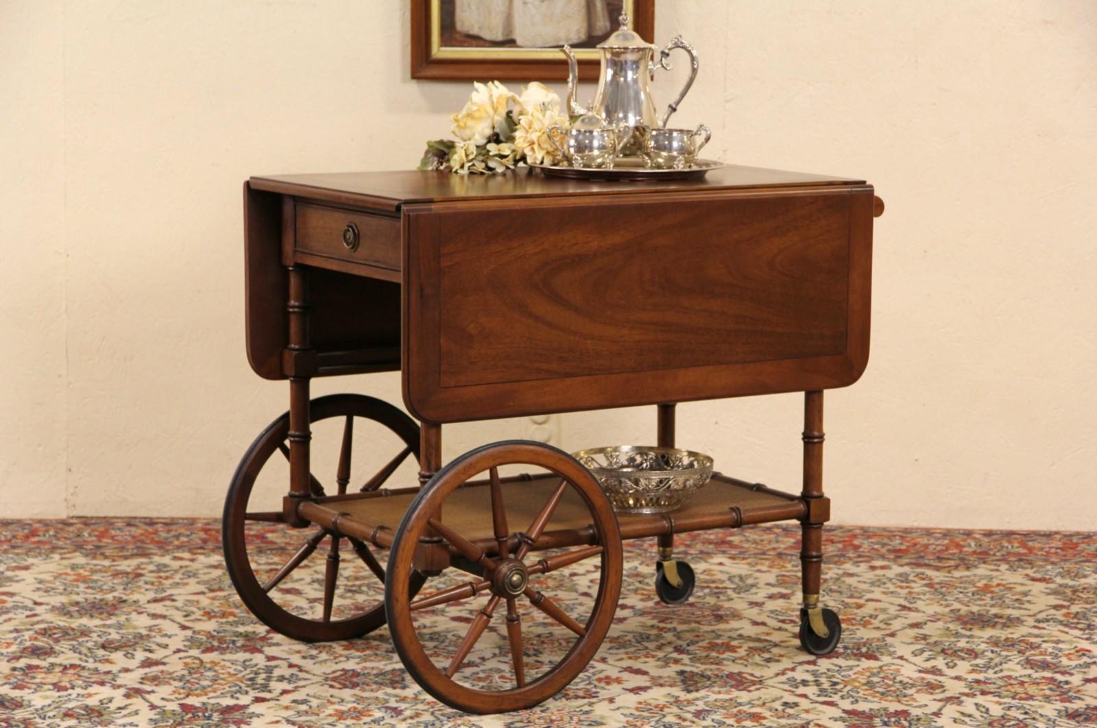 Sold Mahogany Vintage Tea Cart Beverage Or Dessert