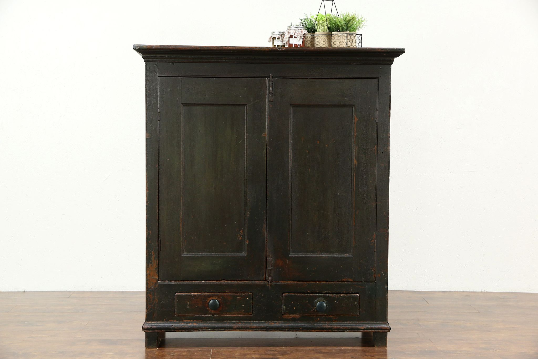 Painted Country Pine Antique 1840 Pantry Cupboard 2 Door Cabinet Maine & SOLD - Painted Country Pine Antique 1840 Pantry Cupboard 2 Door ...