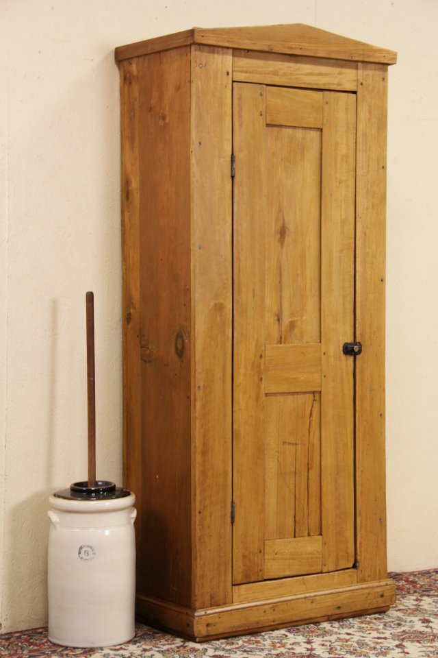 Country Pine 1860 Antique Pantry Chimney Cupboard - SOLD - Country Pine 1860 Antique Pantry Chimney Cupboard - Harp Gallery