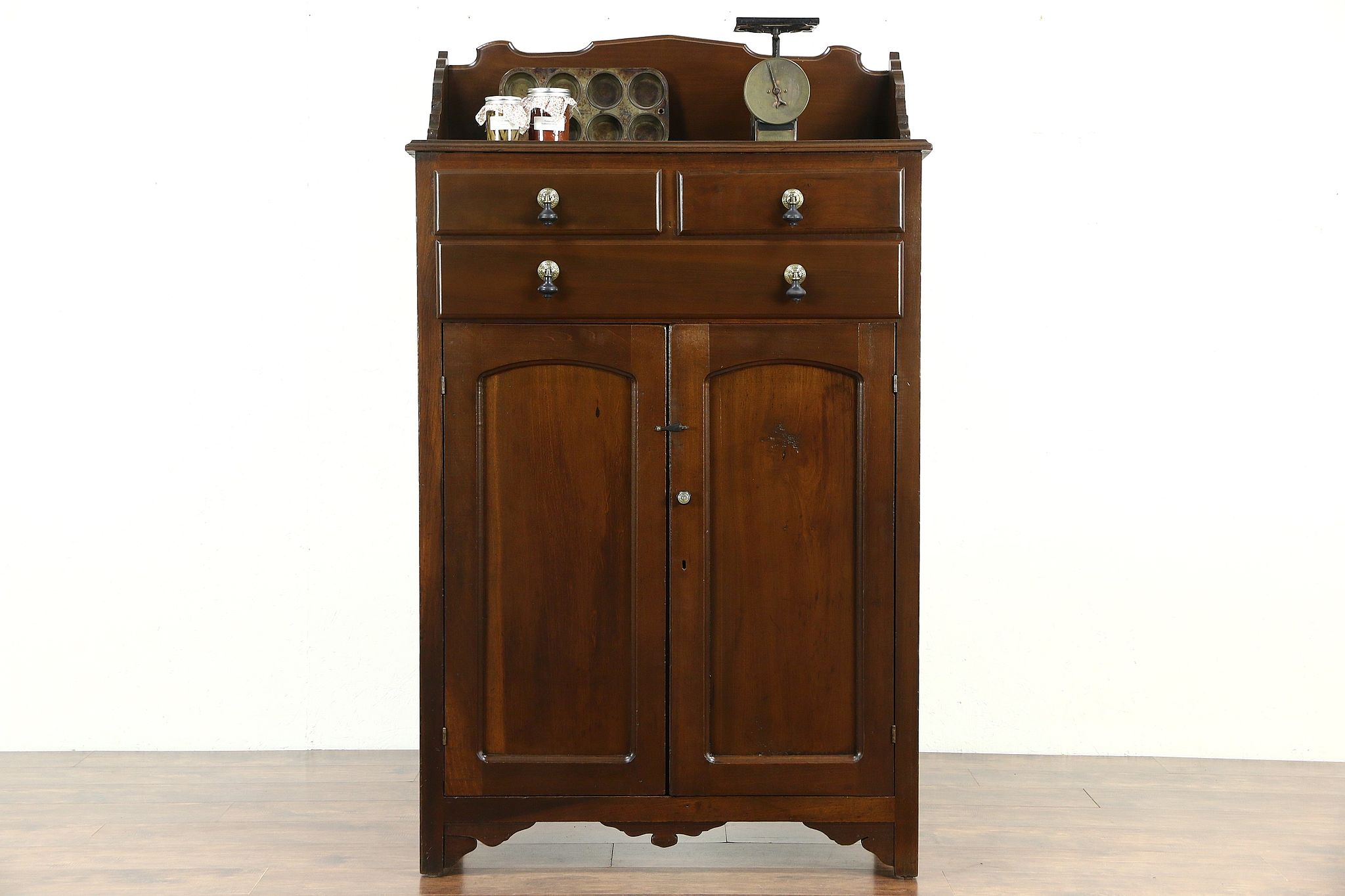 Victorian 1890 Antique Kitchen Pantry Jelly Cupboard