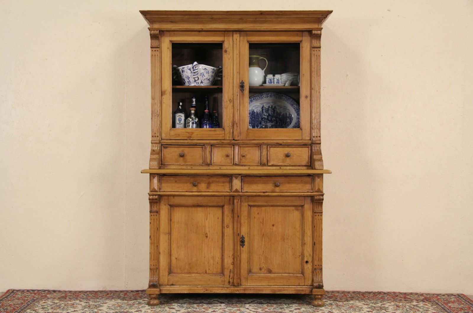 Sold Country Pine Bohemian Or Czech 1880s Antique Cupboard
