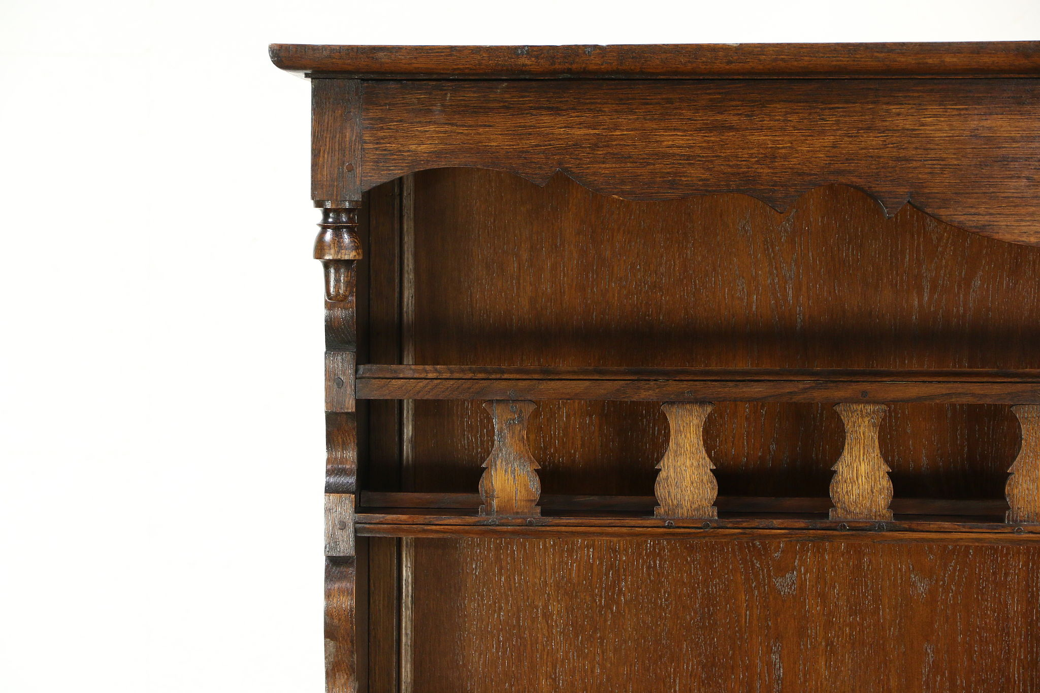 Oak 1840 Antique French Provincial Pewter Cupboard  Sideboard or Welsh  Dresser. Oak 1840 Antique French Provincial Pewter Cupboard  Sideboard or