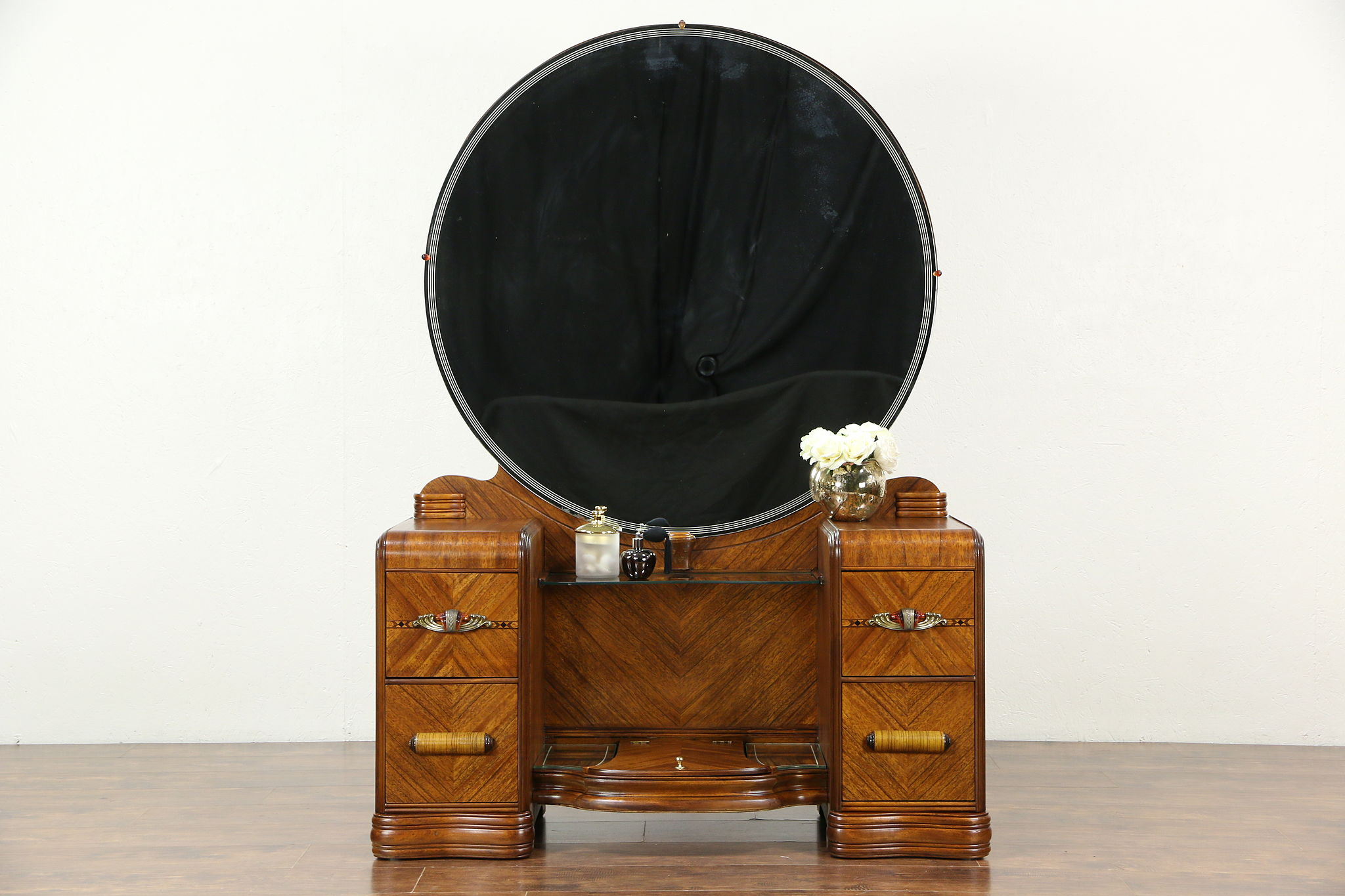Sold Art Deco Waterfall 1930 S Vintage Vanity Or