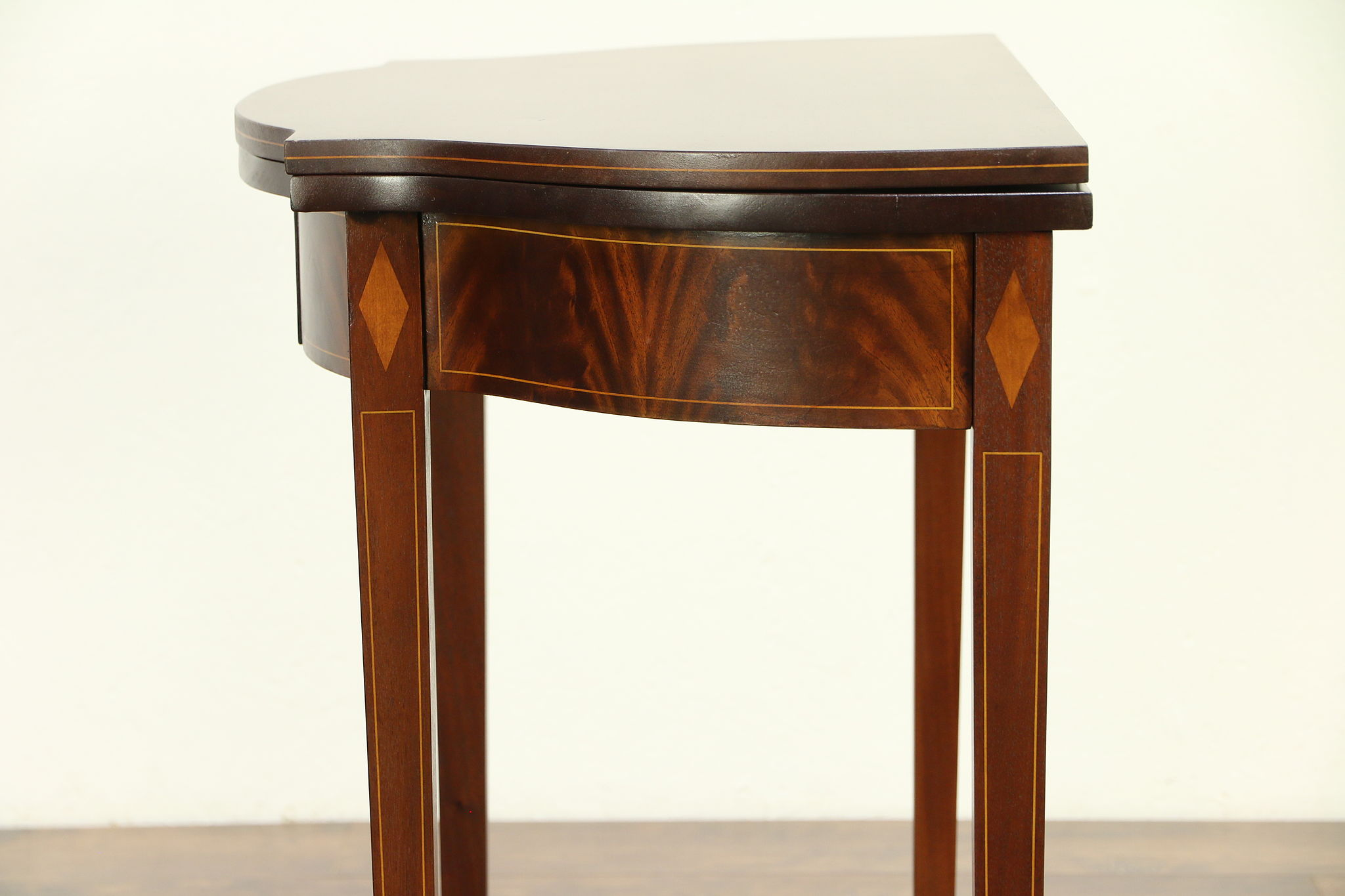 Mahogany Vintage Marquetry Hall Console U0026 Game Table, Signed Imperial  #30565 ...