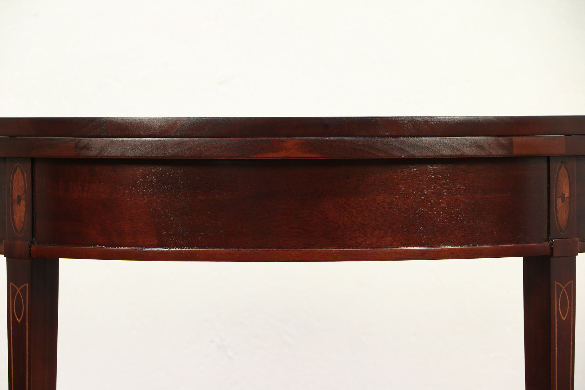 Foyer Console Games : Demilune half round vintage hall console game table