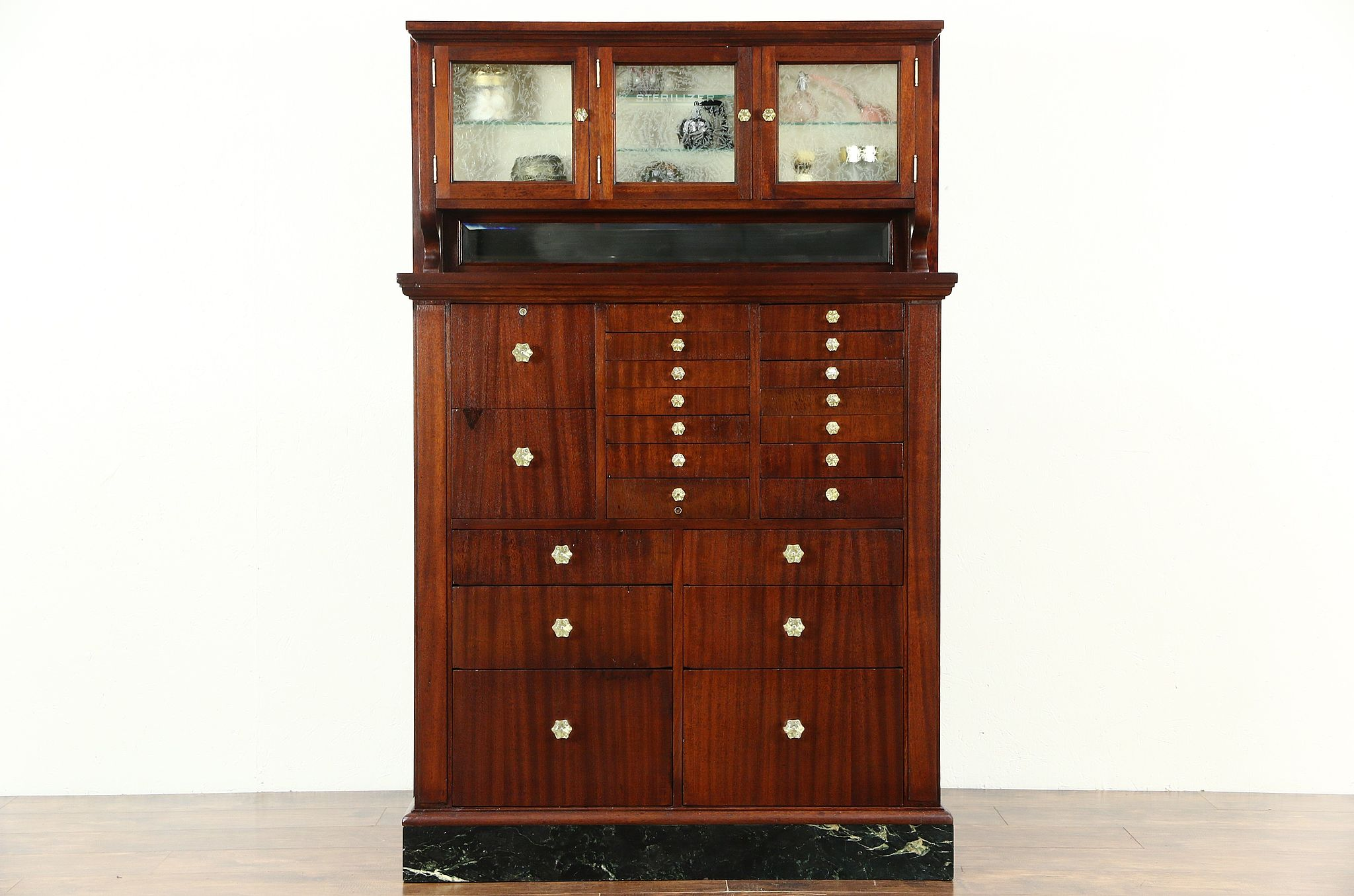 vintage jewelry armoire necklace wood chest box organizer ring storage cabinet itm
