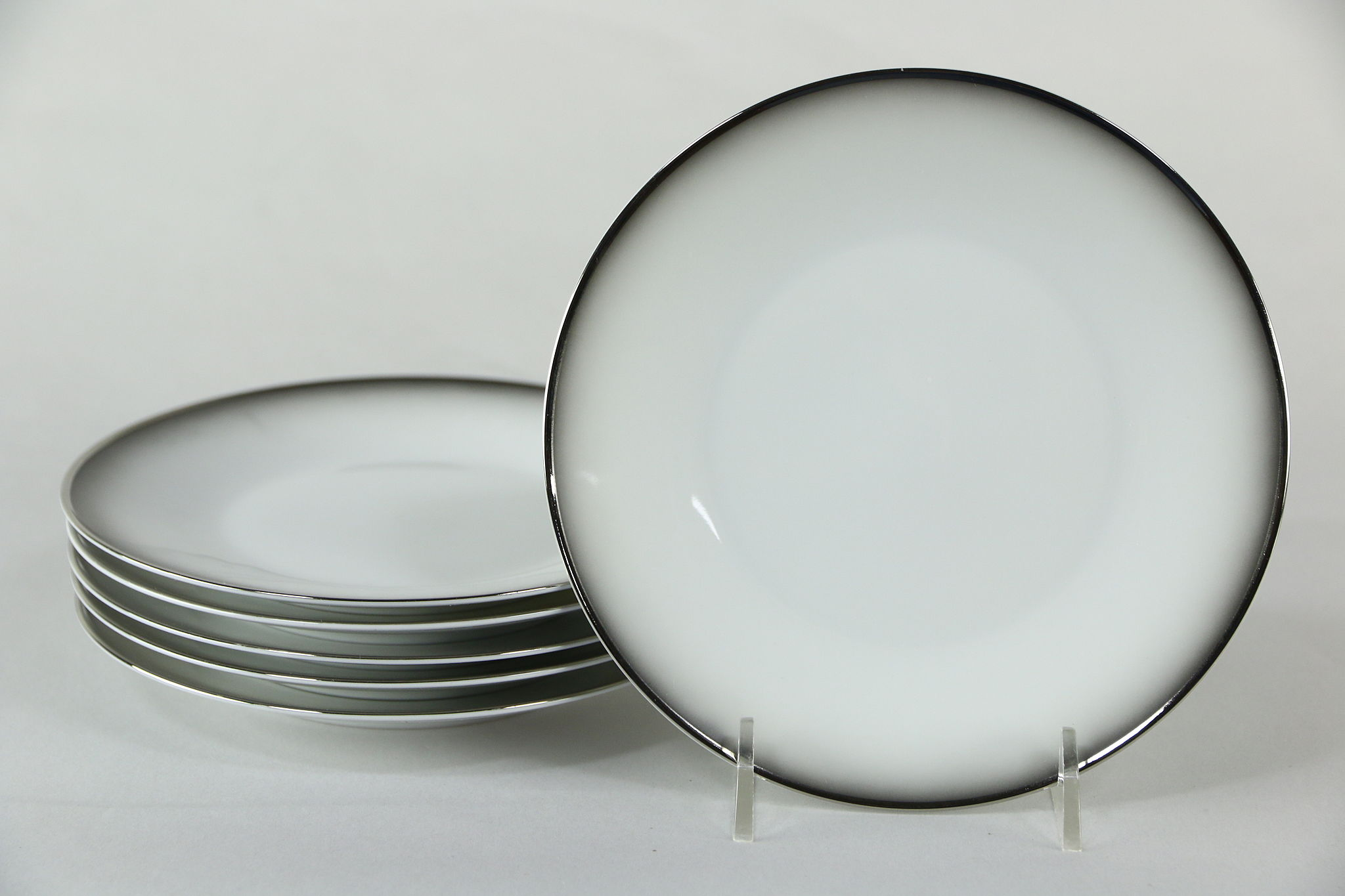 Sold Set Of 6 Bread Butter Plate In Evensong Rosenthal Continental White 6 Harp Gallery Antiques Furniture