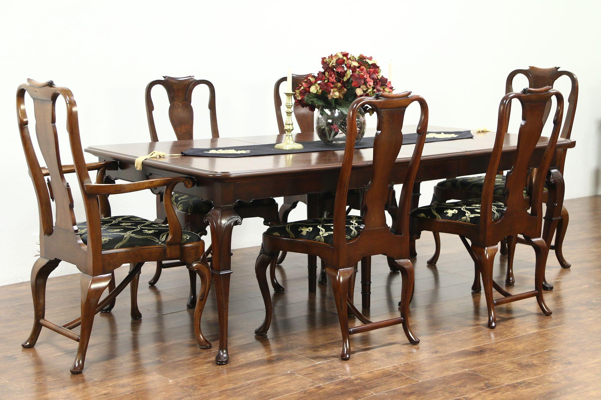 Sold Carved Antique Walnut Dining Set