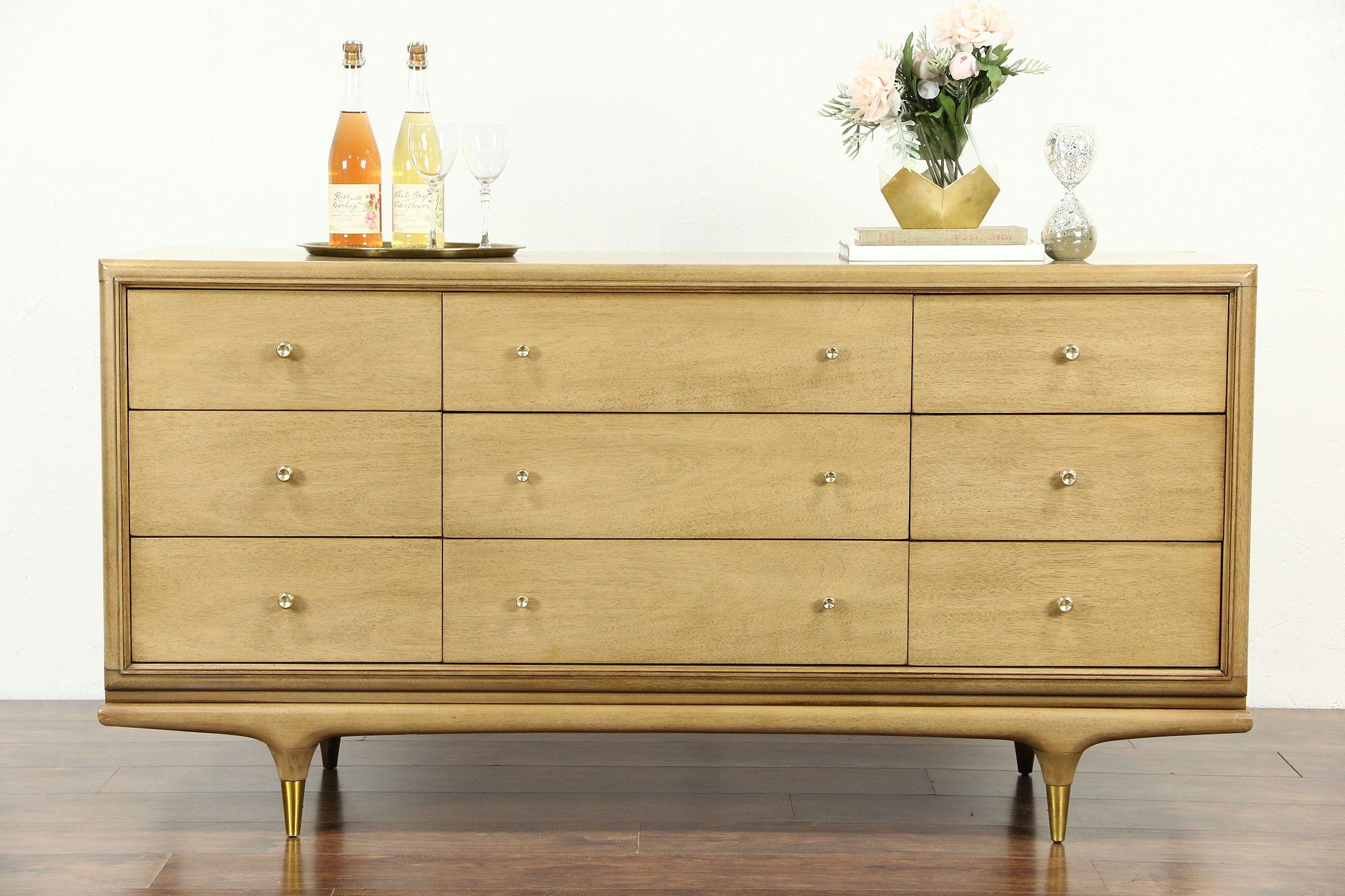 Kent Coffey Continental Signed Midcentury Modern 1950 S Vintage Dresser
