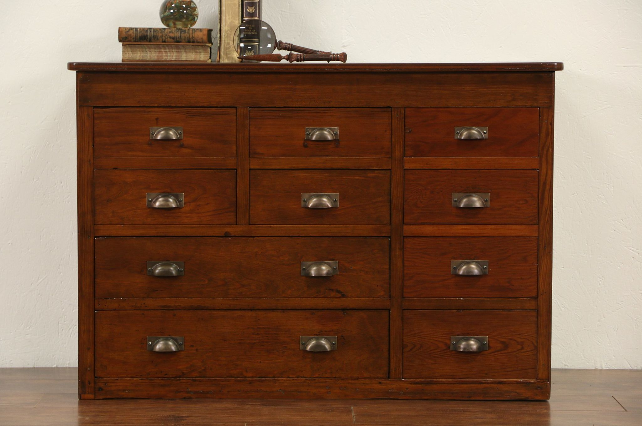 Sold Pine Amp Fir 1920 S Antique 10 Drawer Chest Or File