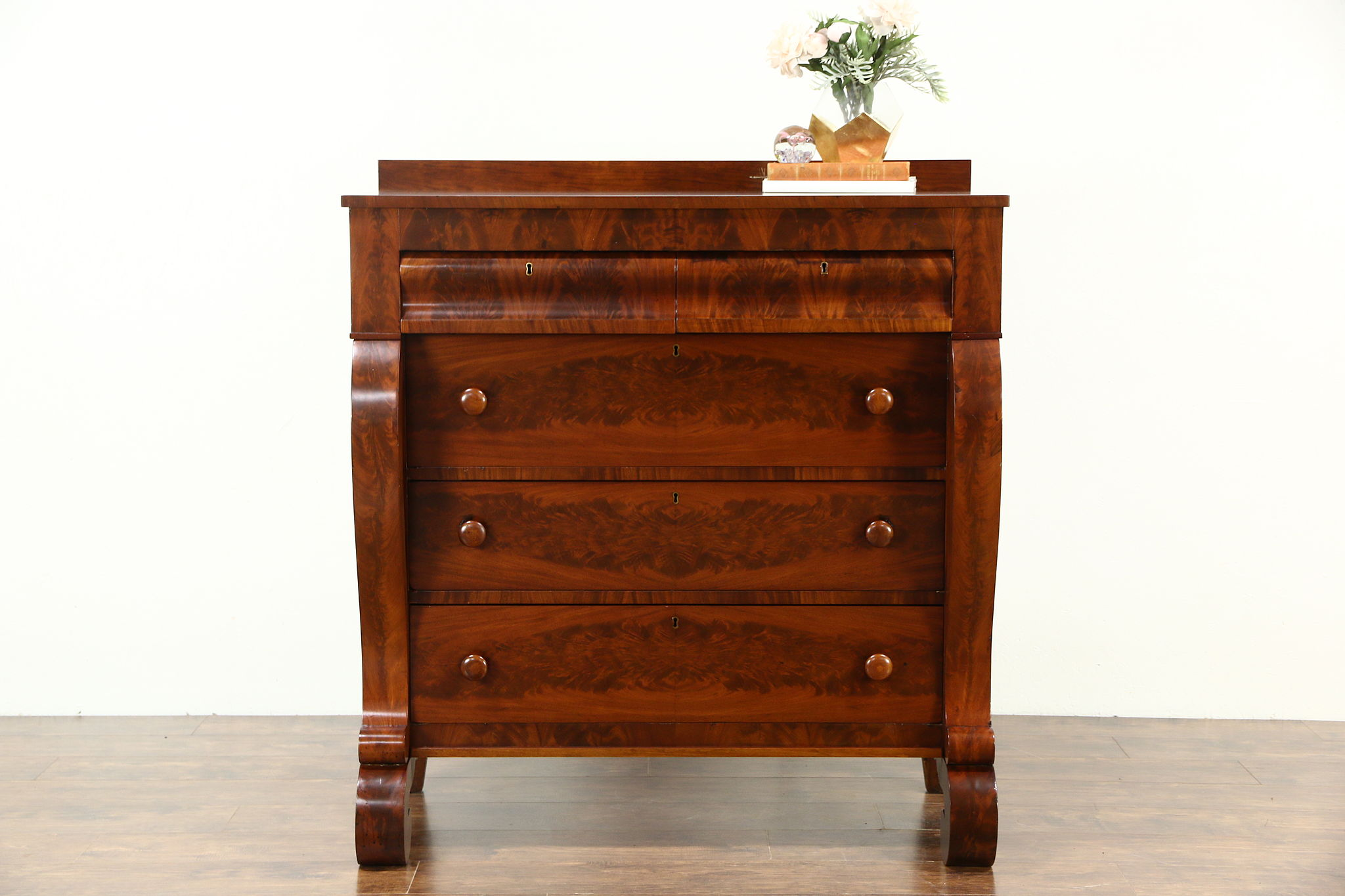 Sold Empire 1830 Antique Chest Or Dresser Cherry