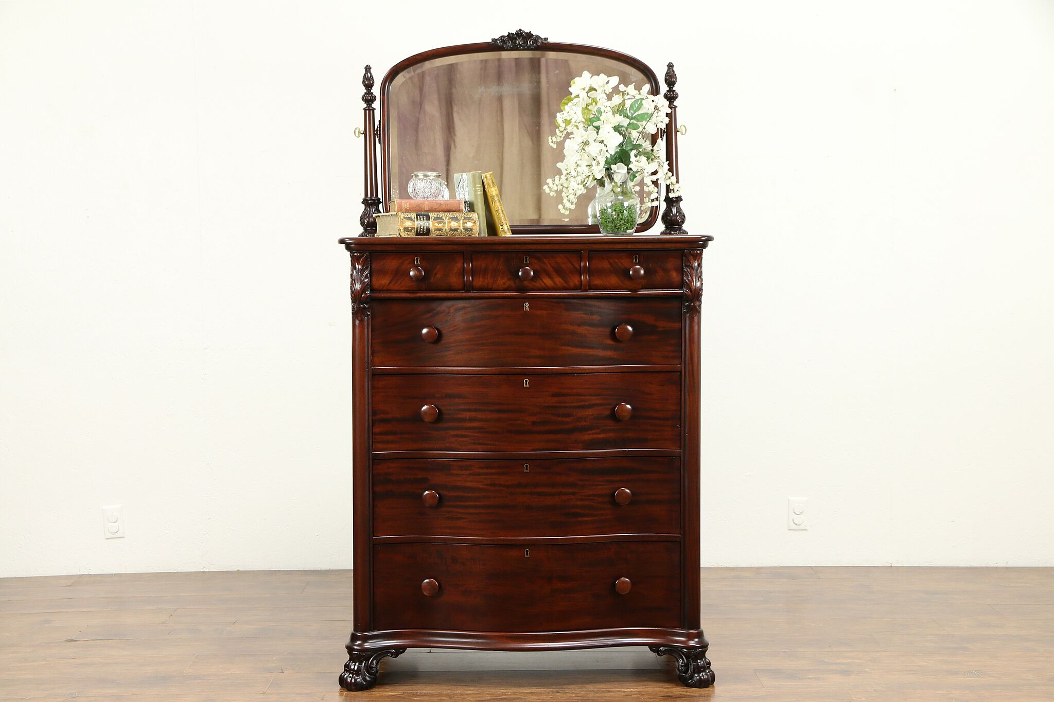 Antique Mahogany Highboy Or Tall Chest