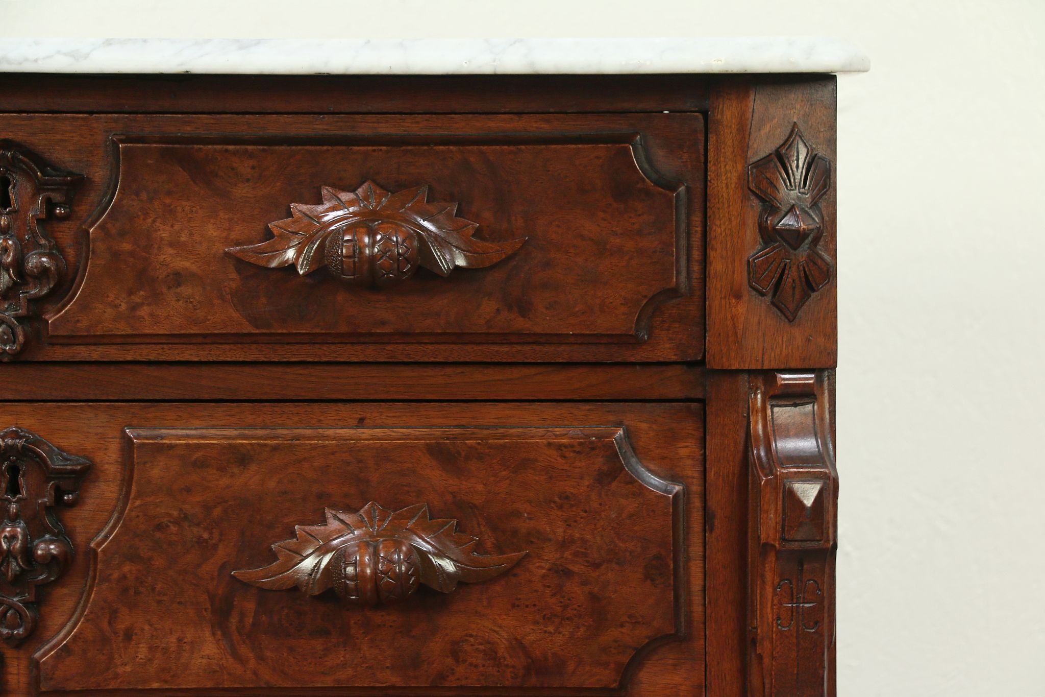 Antique Marble Top Chest Or Dresser