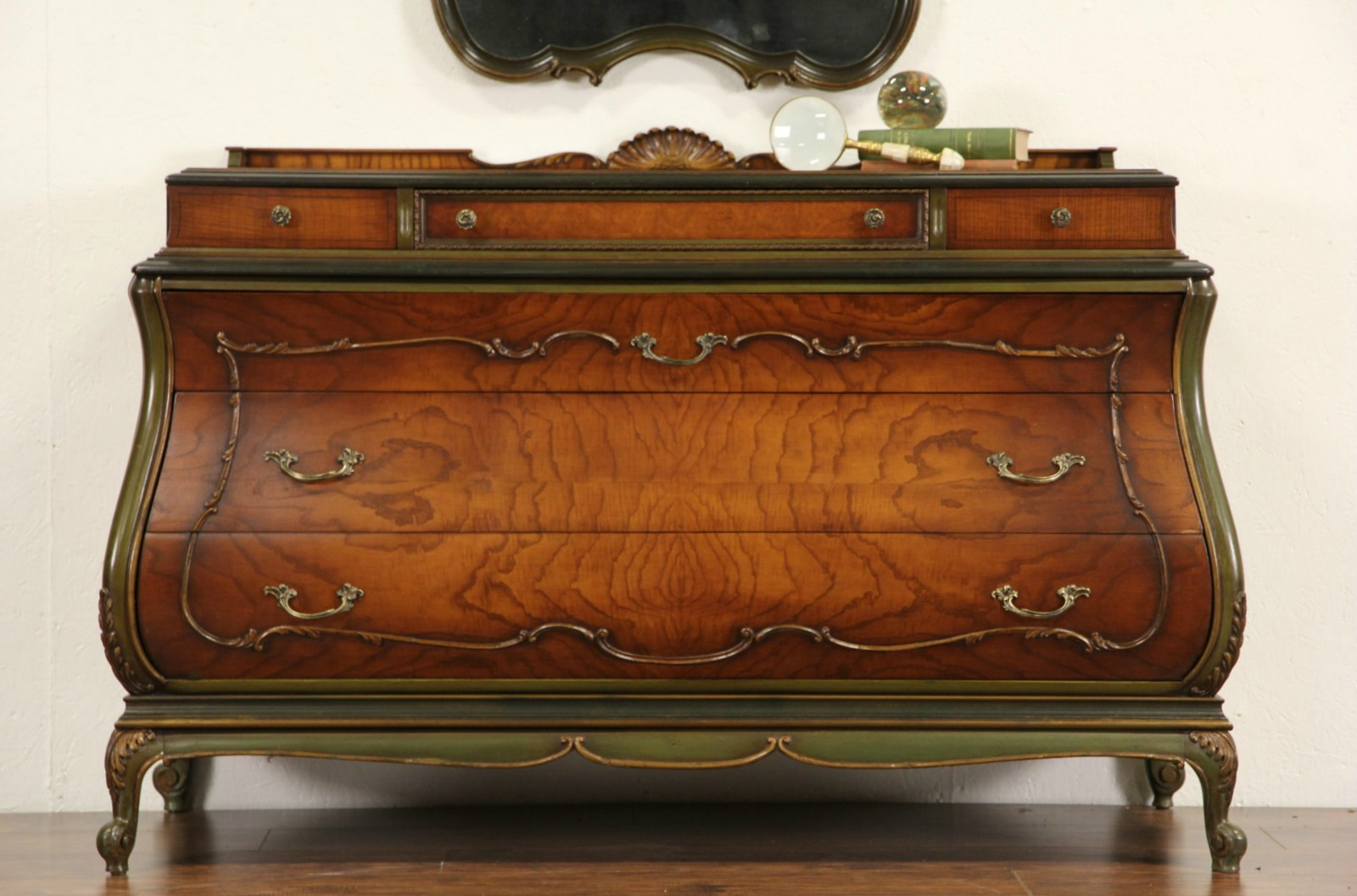 Venetian Style Bombe 1920u0027s Antique Chest Or Dresser, Hand Painted ...