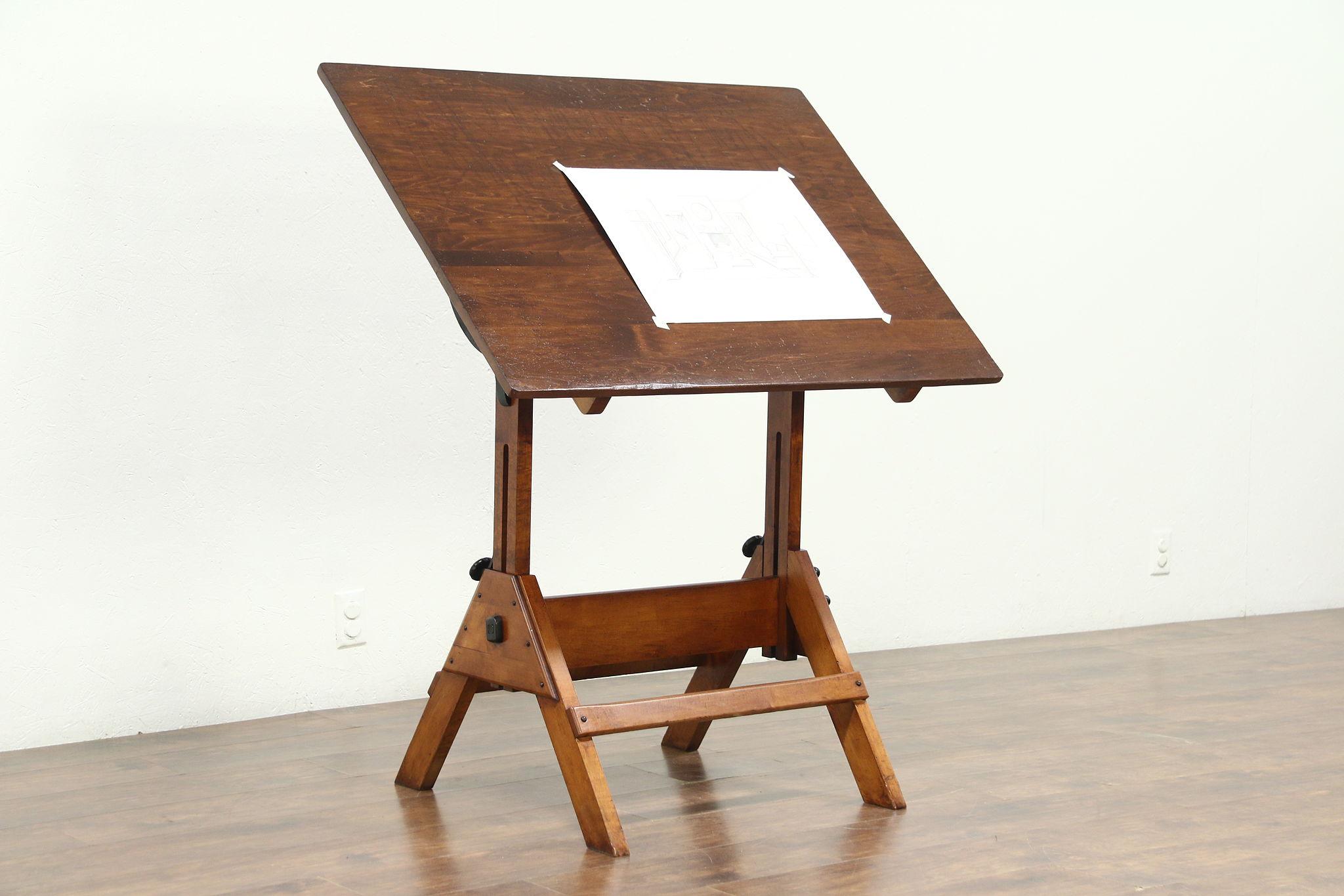 Astonishing Drafting Table Or Adjustable Vintage Artist Desk Kitchen Island Wine Table Download Free Architecture Designs Embacsunscenecom