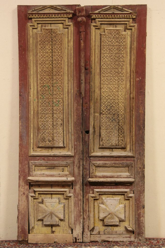 Pair of Architectural Salvage Carved Pine 1880 Antique French Doors ... - SOLD - Pair Of Architectural Salvage Carved Pine 1880 Antique French