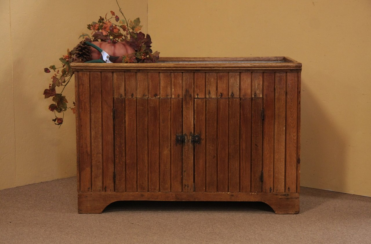 Sold Country Oak Wainscoting Primitive Antique Dry Sink