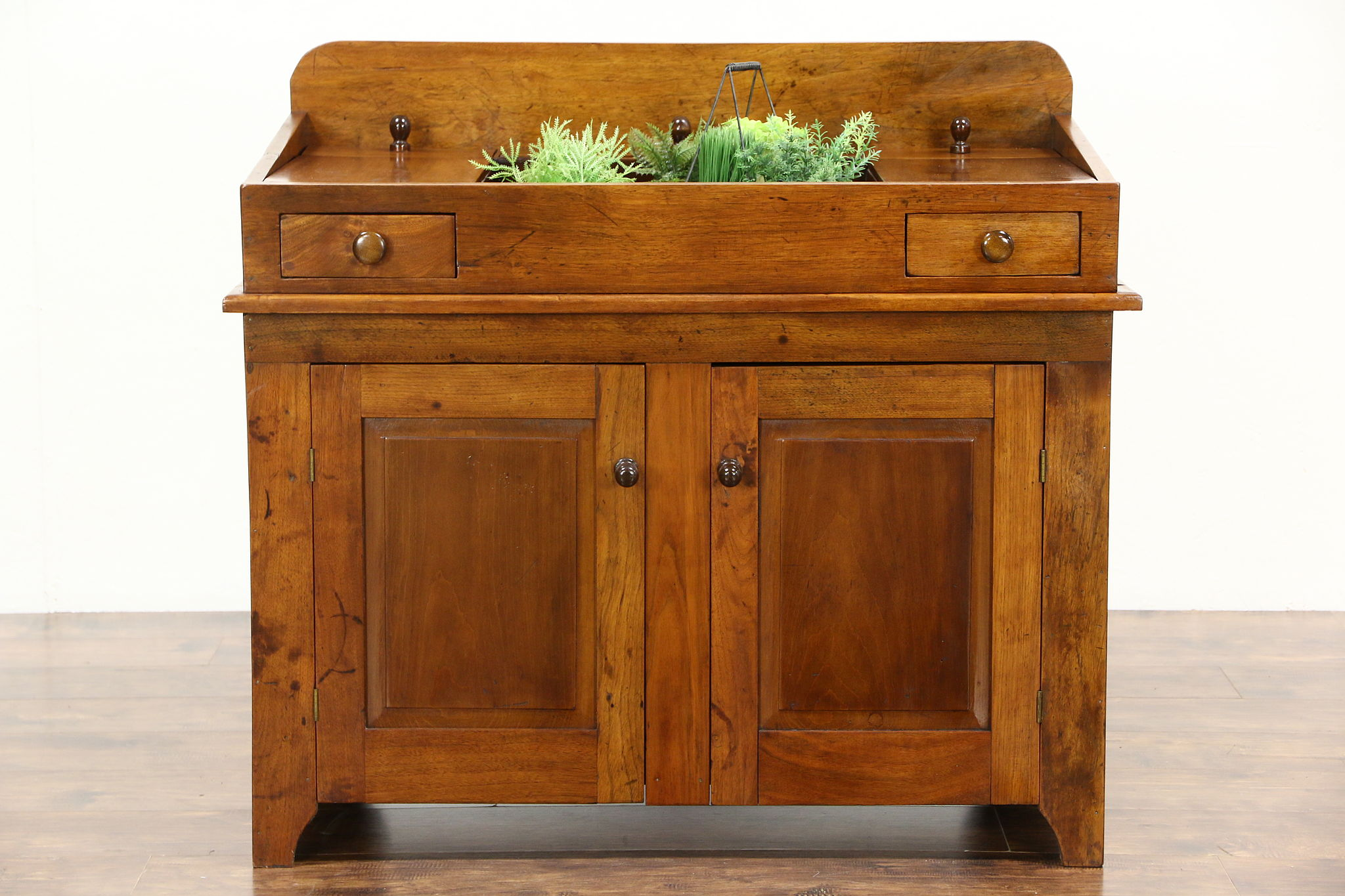 Sold Country Dry Sink Walnut 1880 S Antique Kitchen