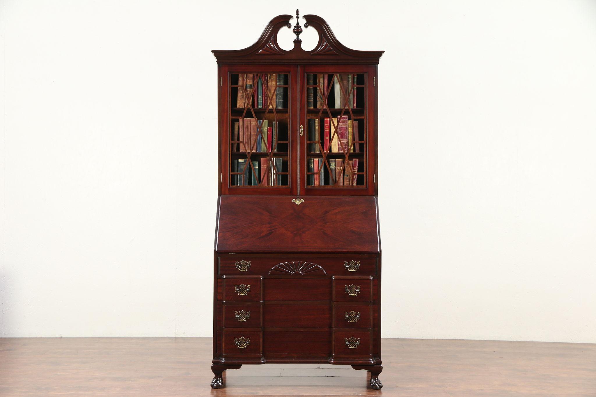 Miraculous Traditional Vintage Secretary Desk Secret Compartments Bookcase Signed 29754 Download Free Architecture Designs Xerocsunscenecom