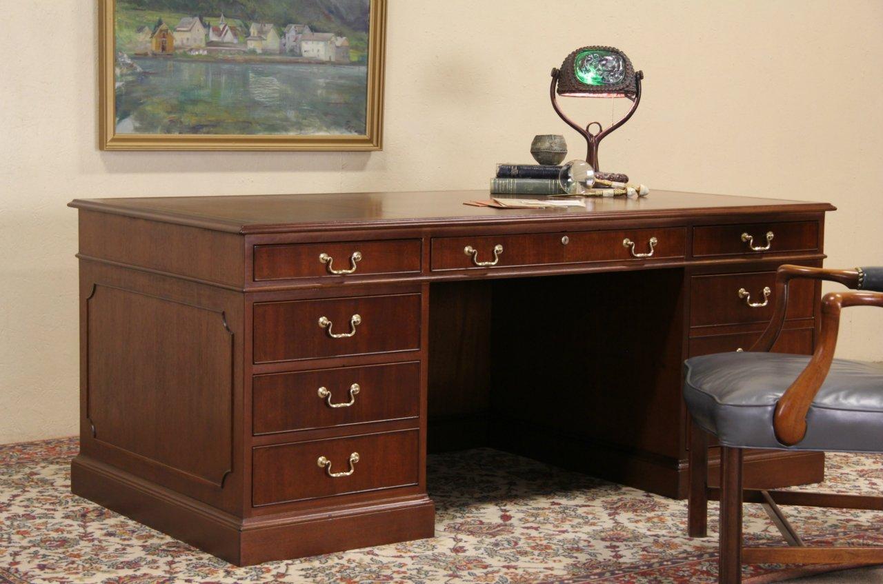 Kittinger Ny Executive Leather Top Vintage Gany Desk