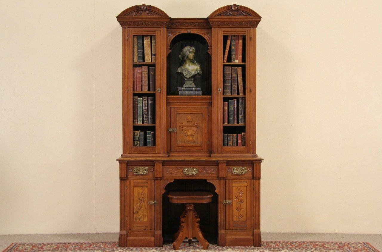 Sold Eastlake Victorian Secretary Desk Amp Bookcase