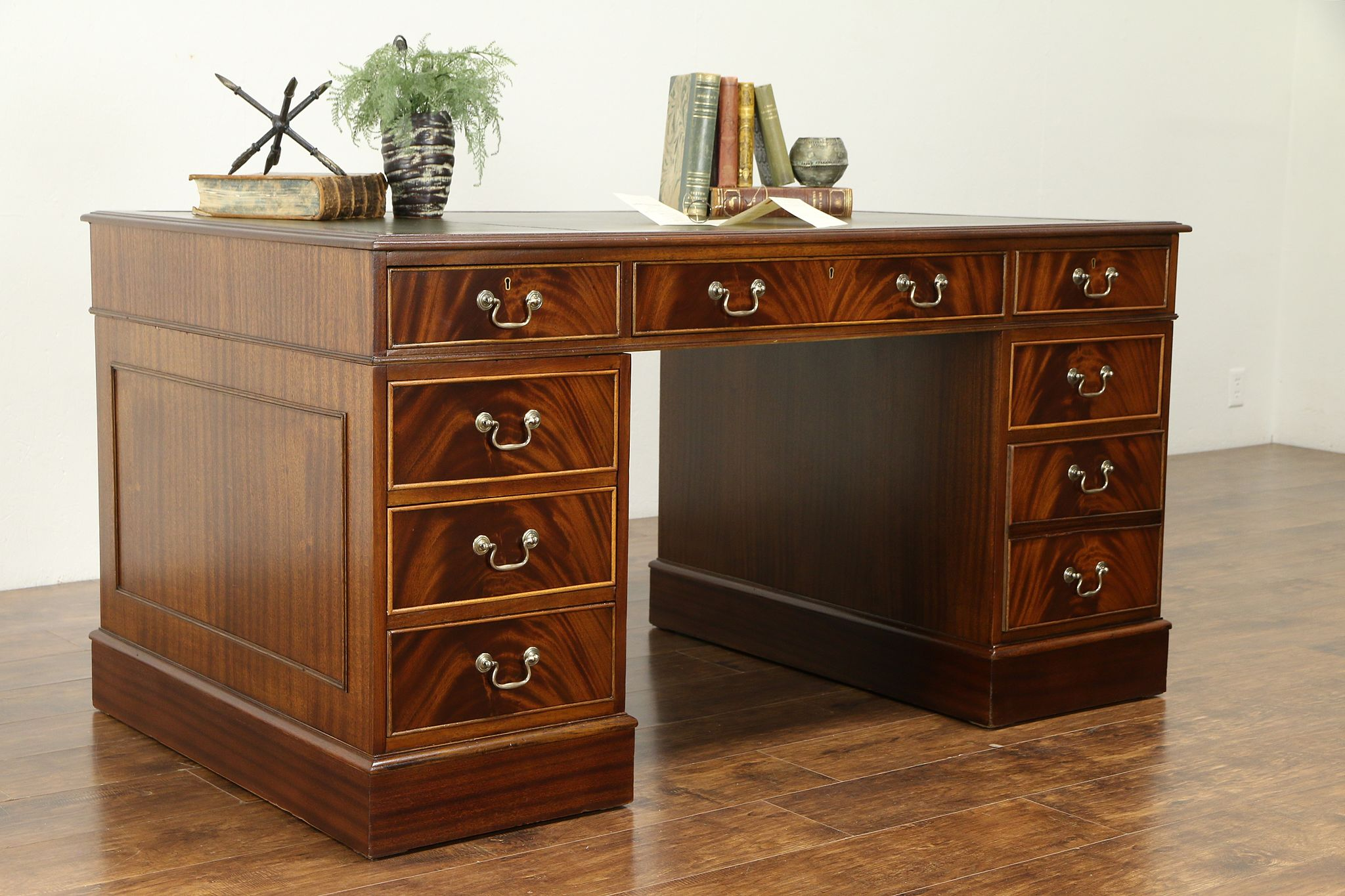 Mahogany Library Or Office Desk