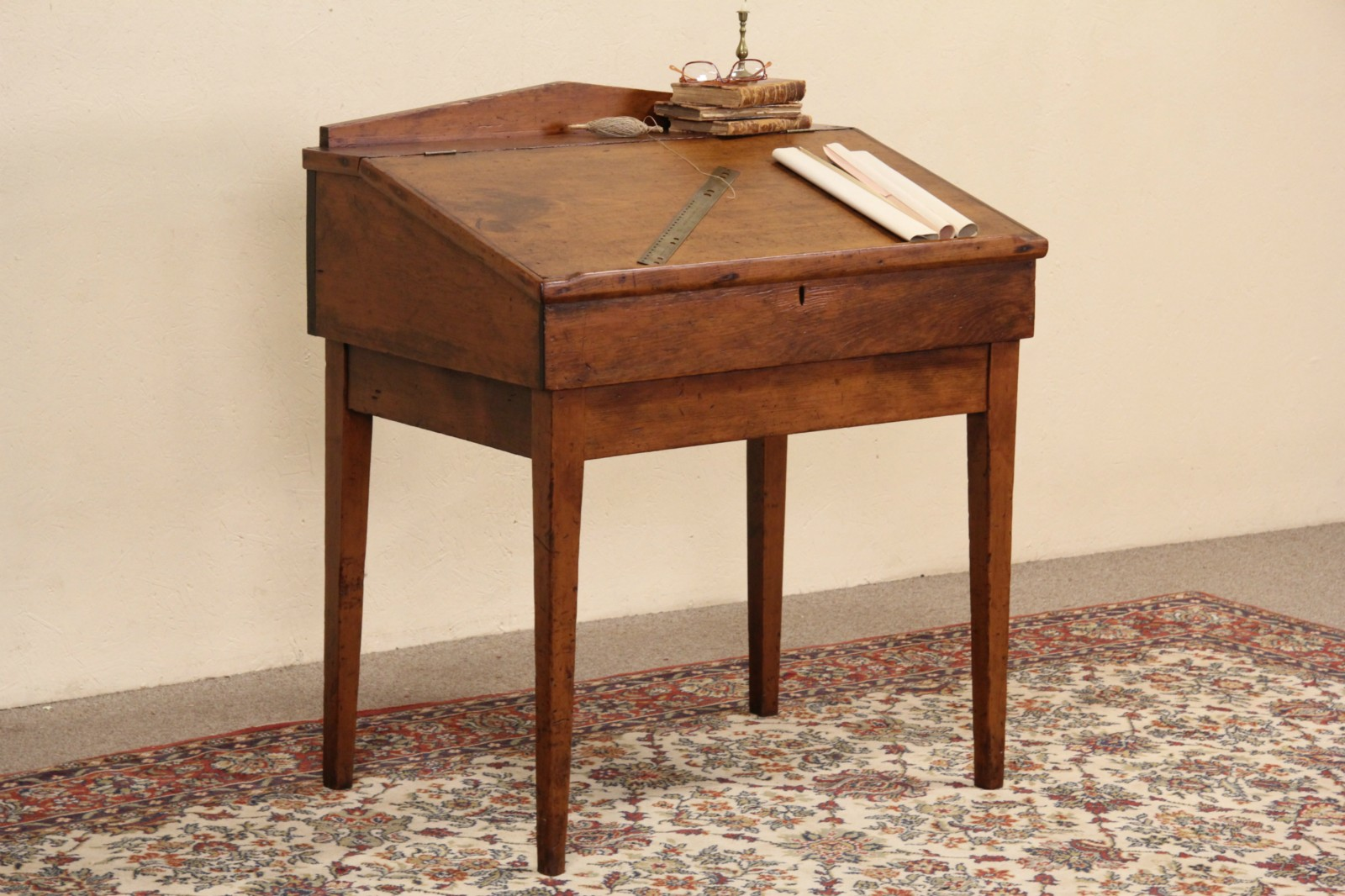 Sold Country Pine 1860 S Antique Slant Top Schoolmaster