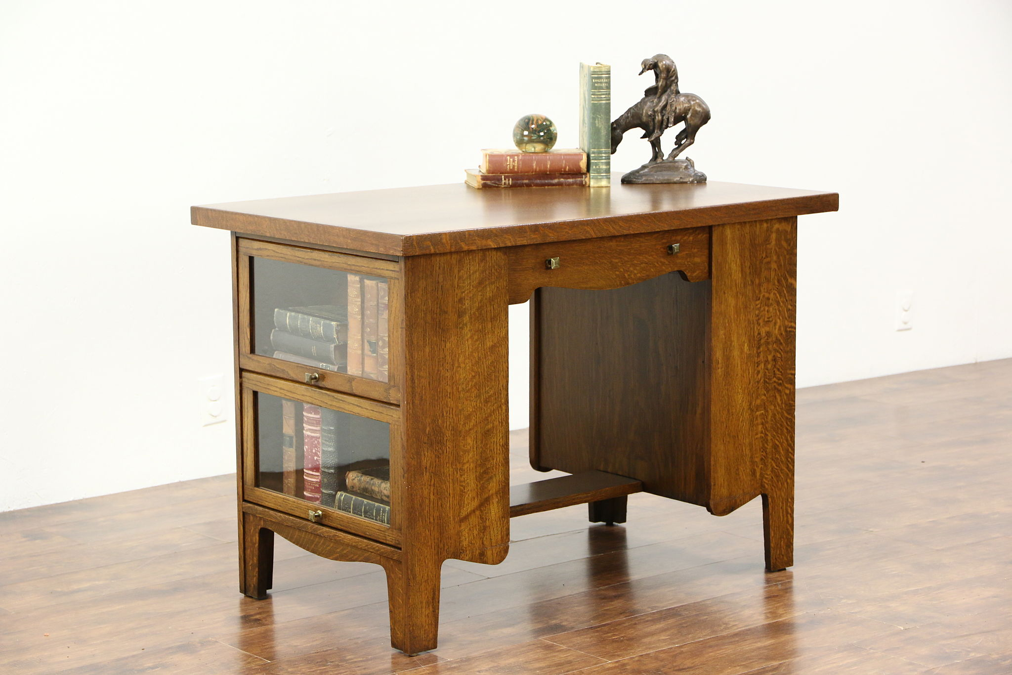 SOLD Arts & Crafts Mission Oak Antique Library Table Lawyer