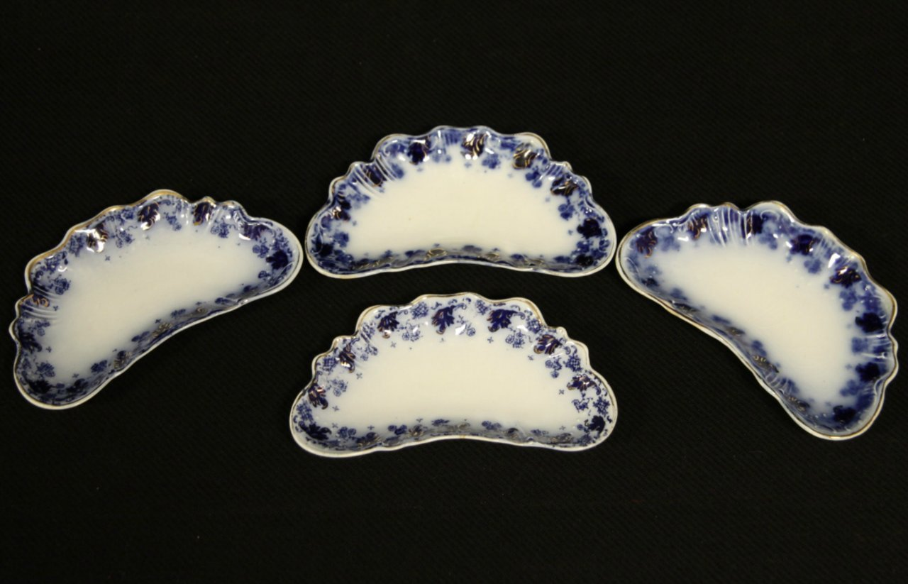 Sold Set Of Four Fish Bone Plates Astoria Pattern