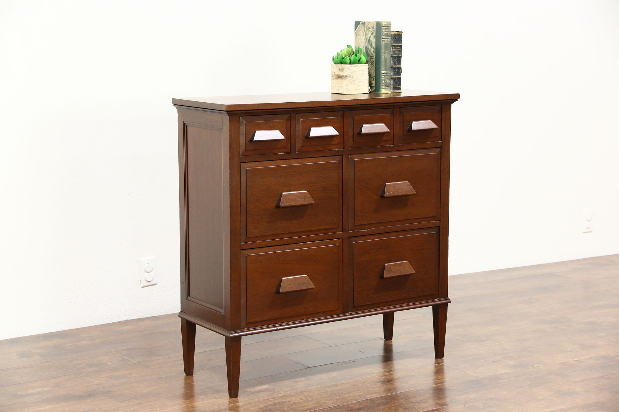 SOLD - Mahogany Antique 8-Drawer File Cabinet - Harp Gallery ...