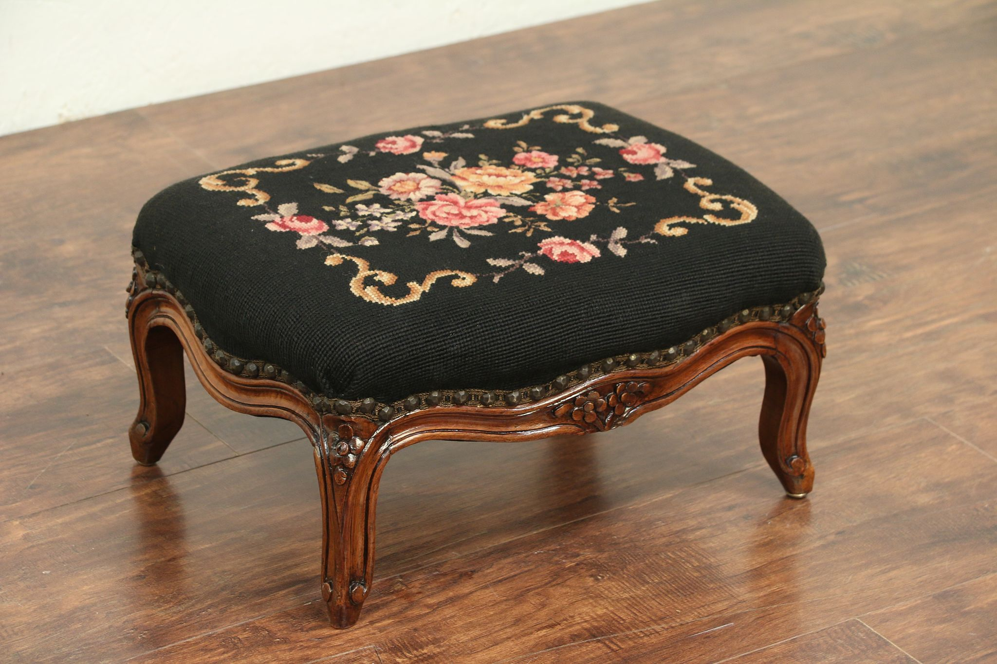 Pre-1800 Antique Curved Foot Stool