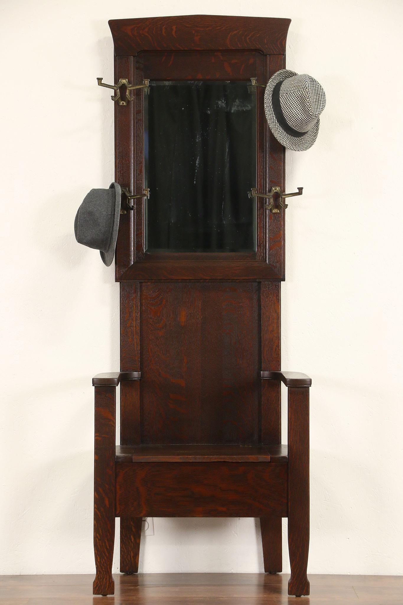 Sold Arts Amp Crafts Mission Oak 1905 Antique Hall Stand