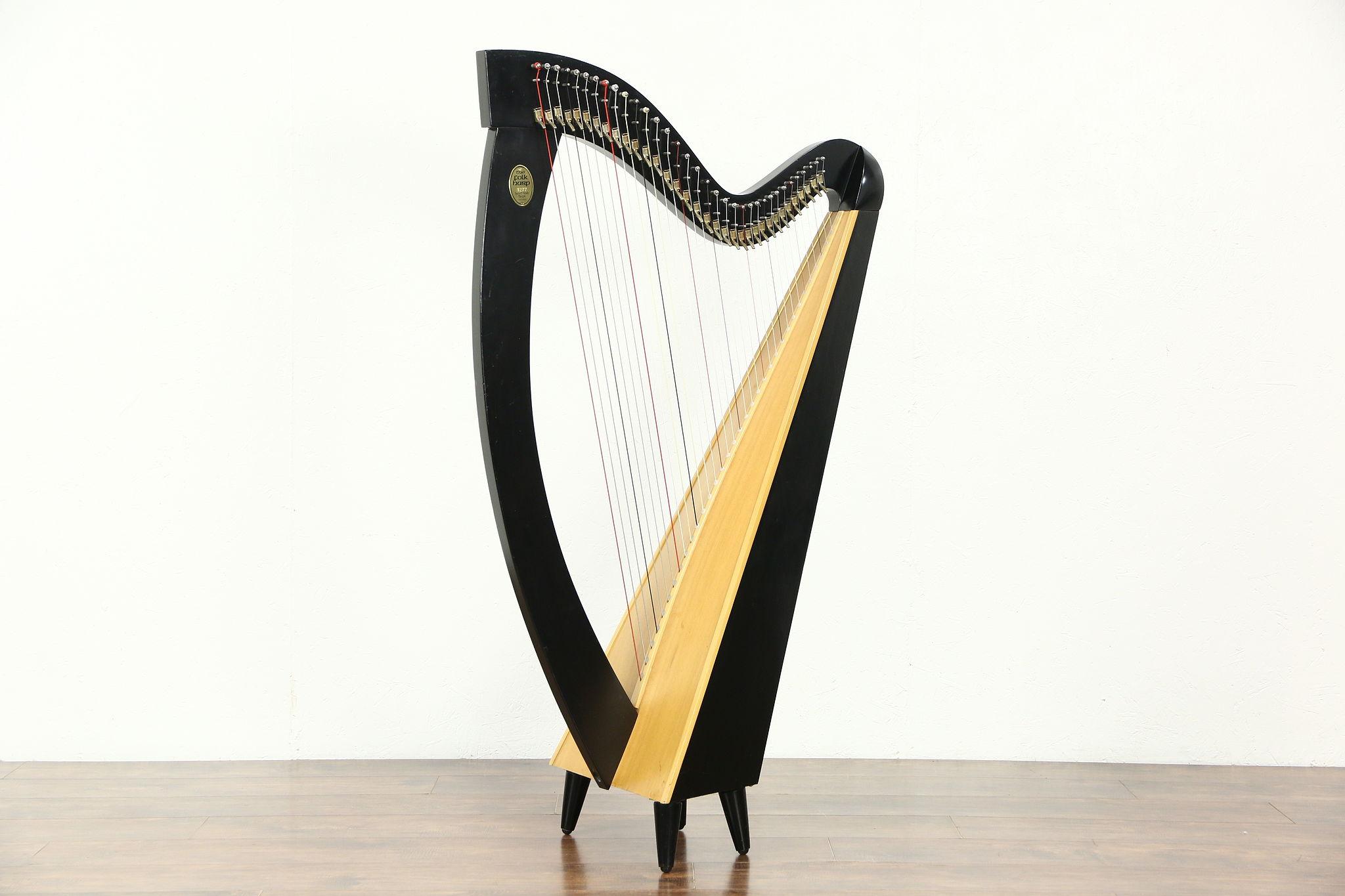 Sold Lyon Amp Healy Signed Troubadour Harp Sylvia Woods