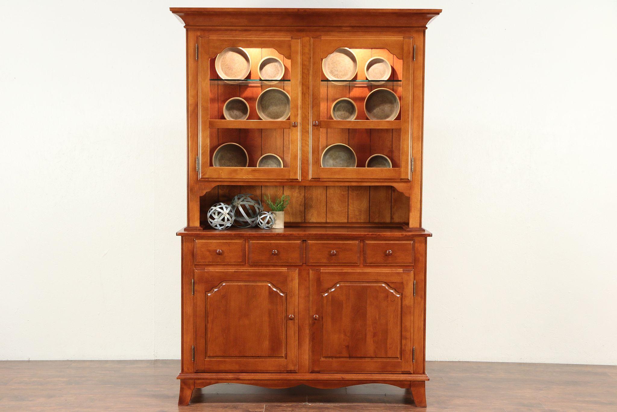 Exceptionnel Nichols U0026 Stone Vintage Hutch Cabinet Provence Buffet U0026 China Deck #29687  ...