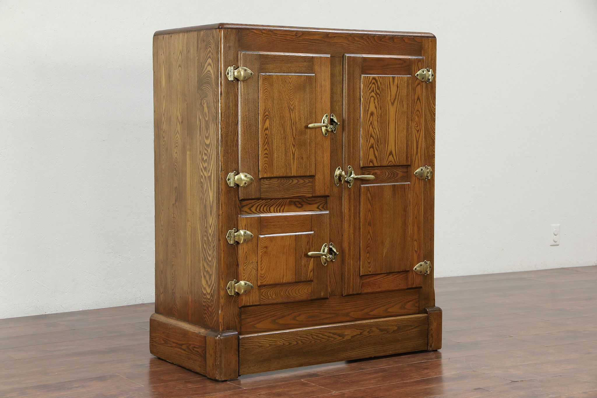 Sold Oak Antique 1900 Kitchen Pantry Ice Box