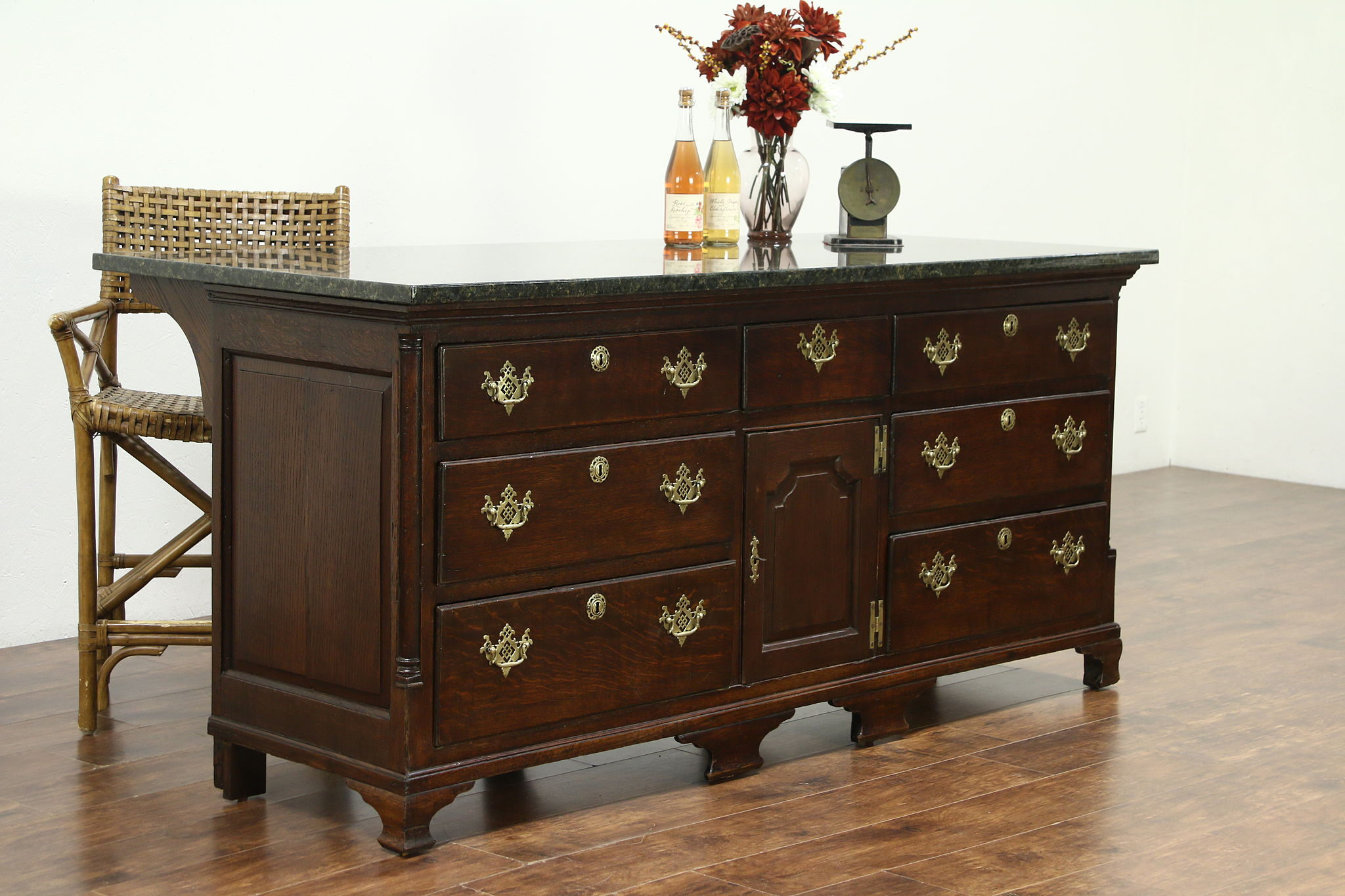 kitchen island counter granite top from oak english 1840 antique sideboard kitchen island store counters   harp gallery antique furniture  rh   harpgallery com