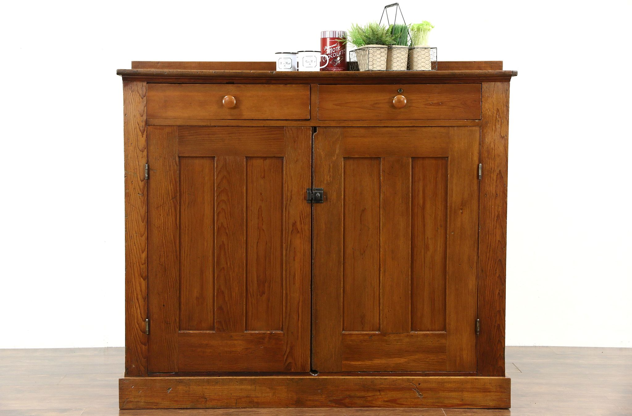 Country Pine 1890u0027s Antique Rustic Cabinet Or Pantry Jelly Cupboard ...