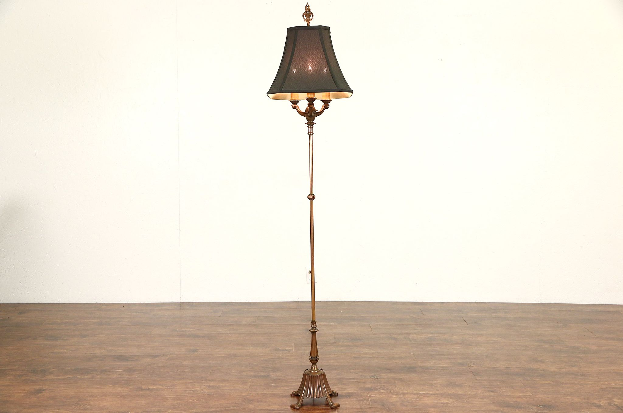 Sold rembrandt 1920s antique burnished copper floor lamp new rembrandt 1920s antique burnished copper floor lamp new shade aloadofball Gallery