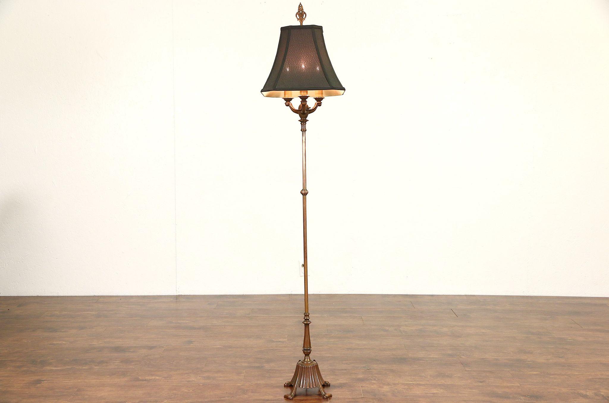 Sold Rembrandt 1920s Antique Burnished Copper Floor Lamp New