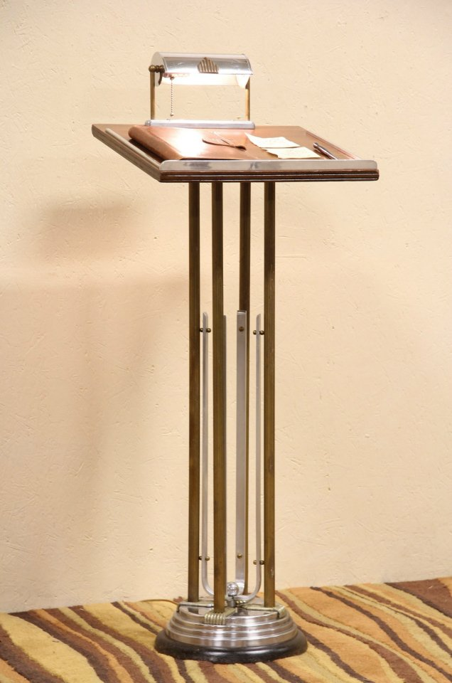 Sold Art Deco 1930 S Lectern Podium Or Reception Stand Harp Gallery