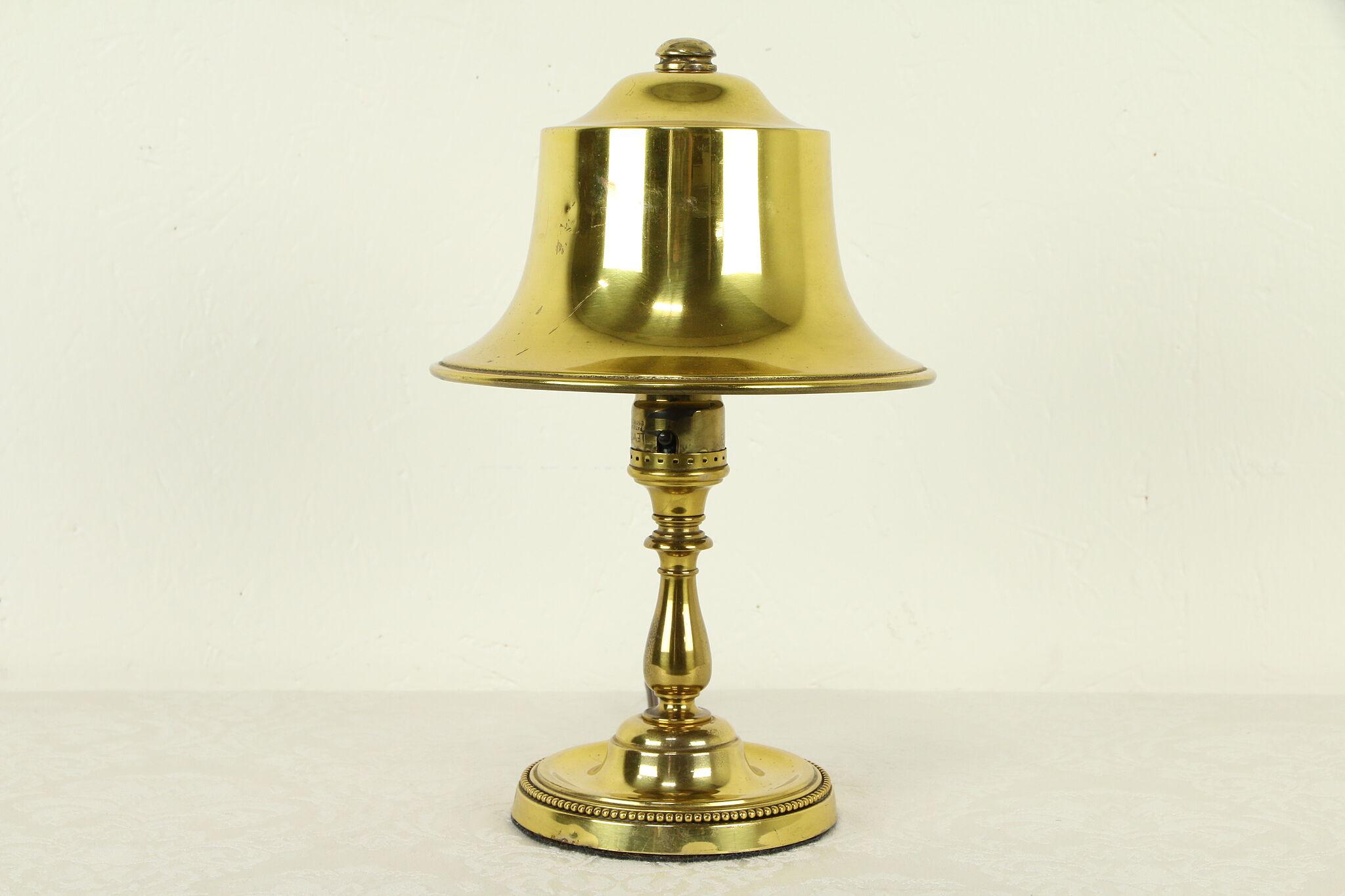 Br Antique 1920 S Desk Lamp Bell Shape Shade 31754
