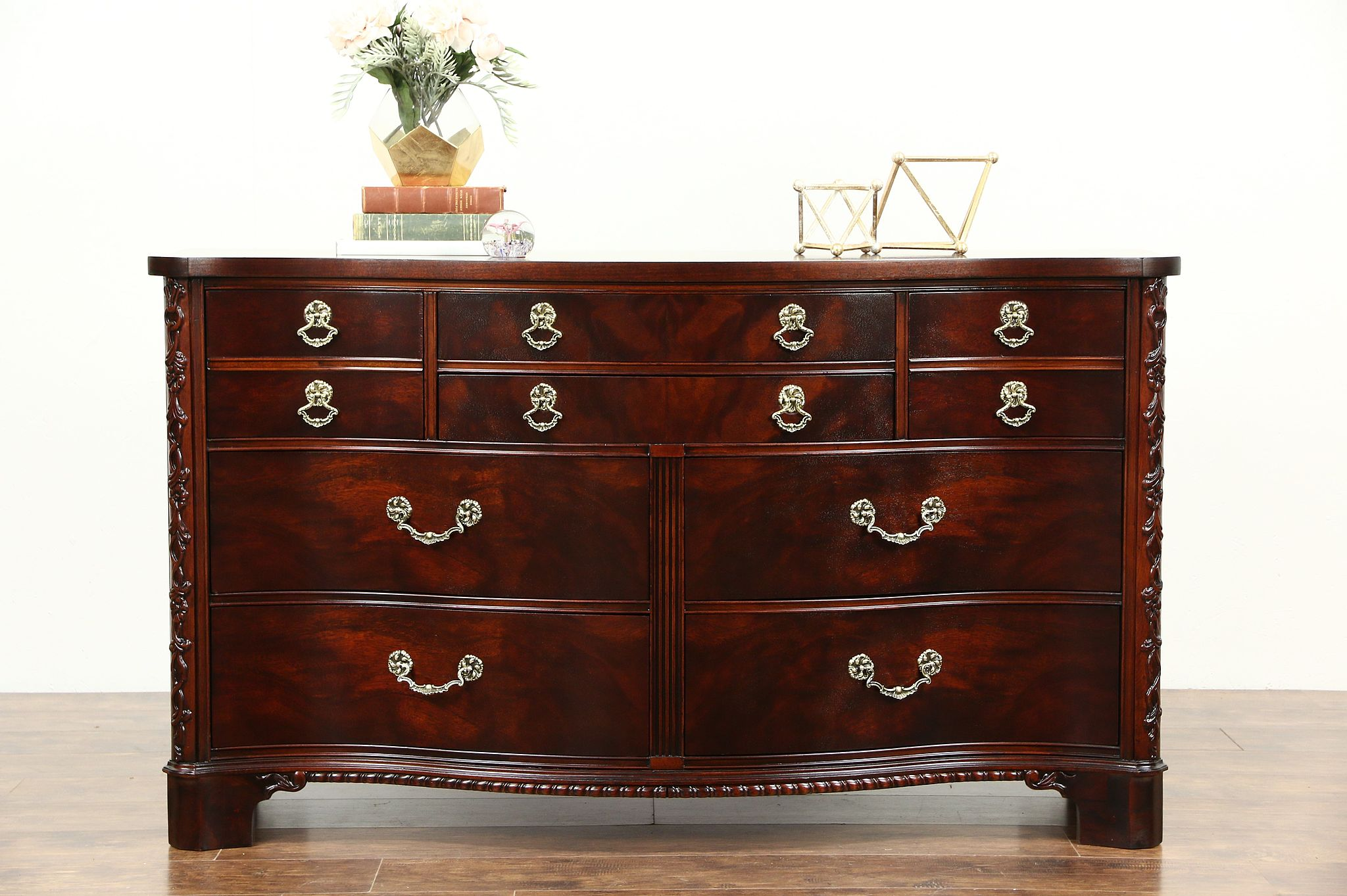 Picture of: Sold Century Signed Traditional Vintage Mahogany Dresser Or Linen Chest Harp Gallery Antiques Furniture