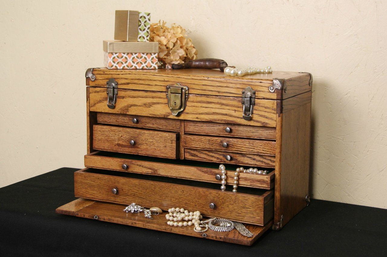 Sold Machinist Oak 1920 S Excelsior Tool Chest