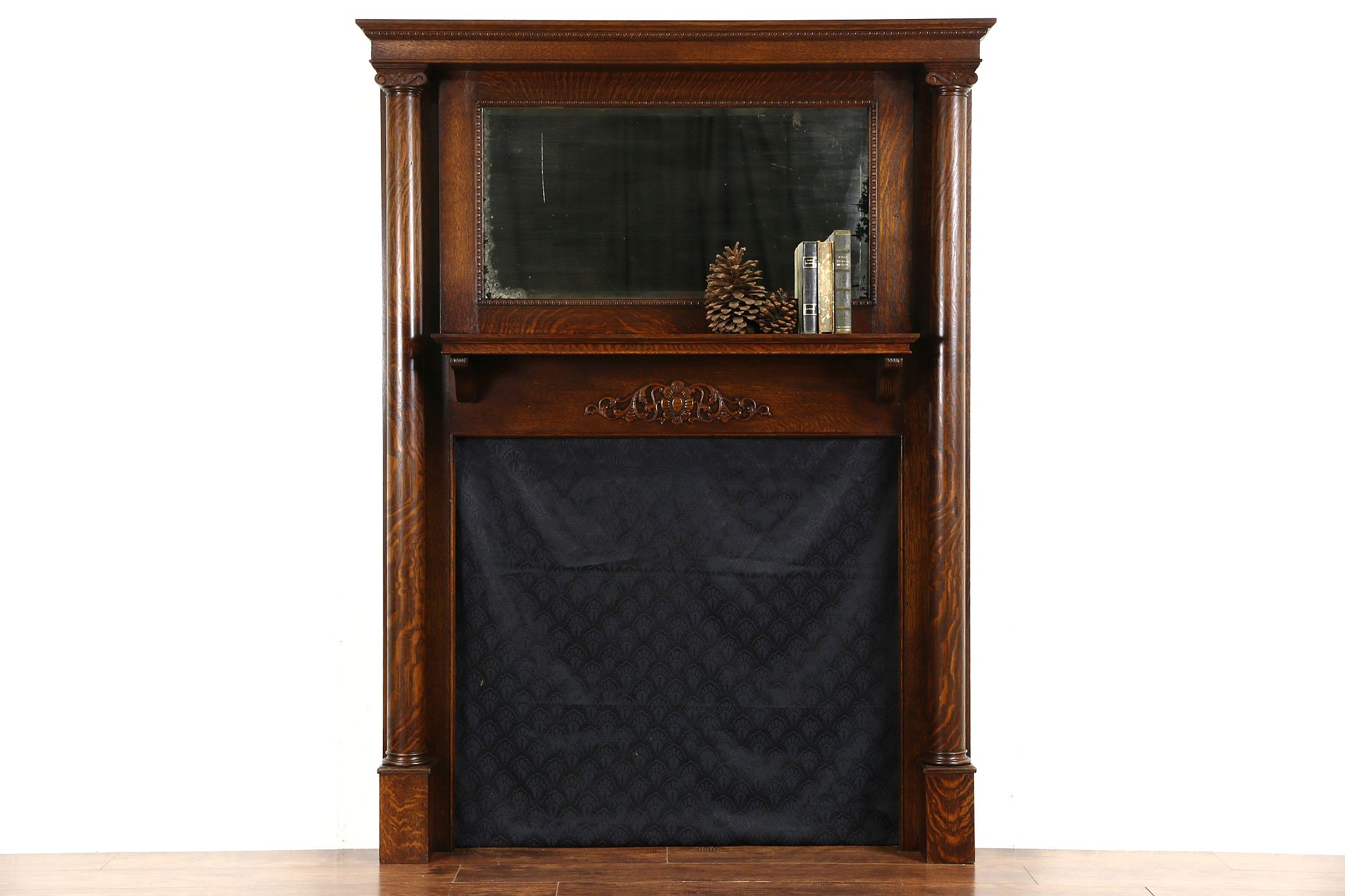 sold fireplace mantel surround u0026 mirror 1900 antique