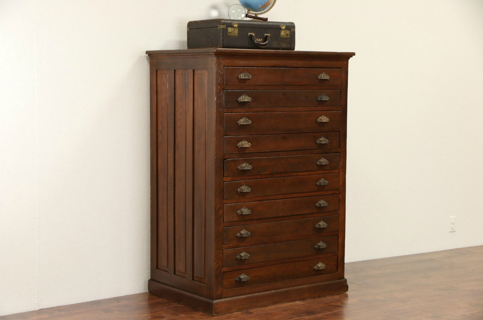 Sold Map Chest Or Drawing File Cabinet 1900 Oak 10