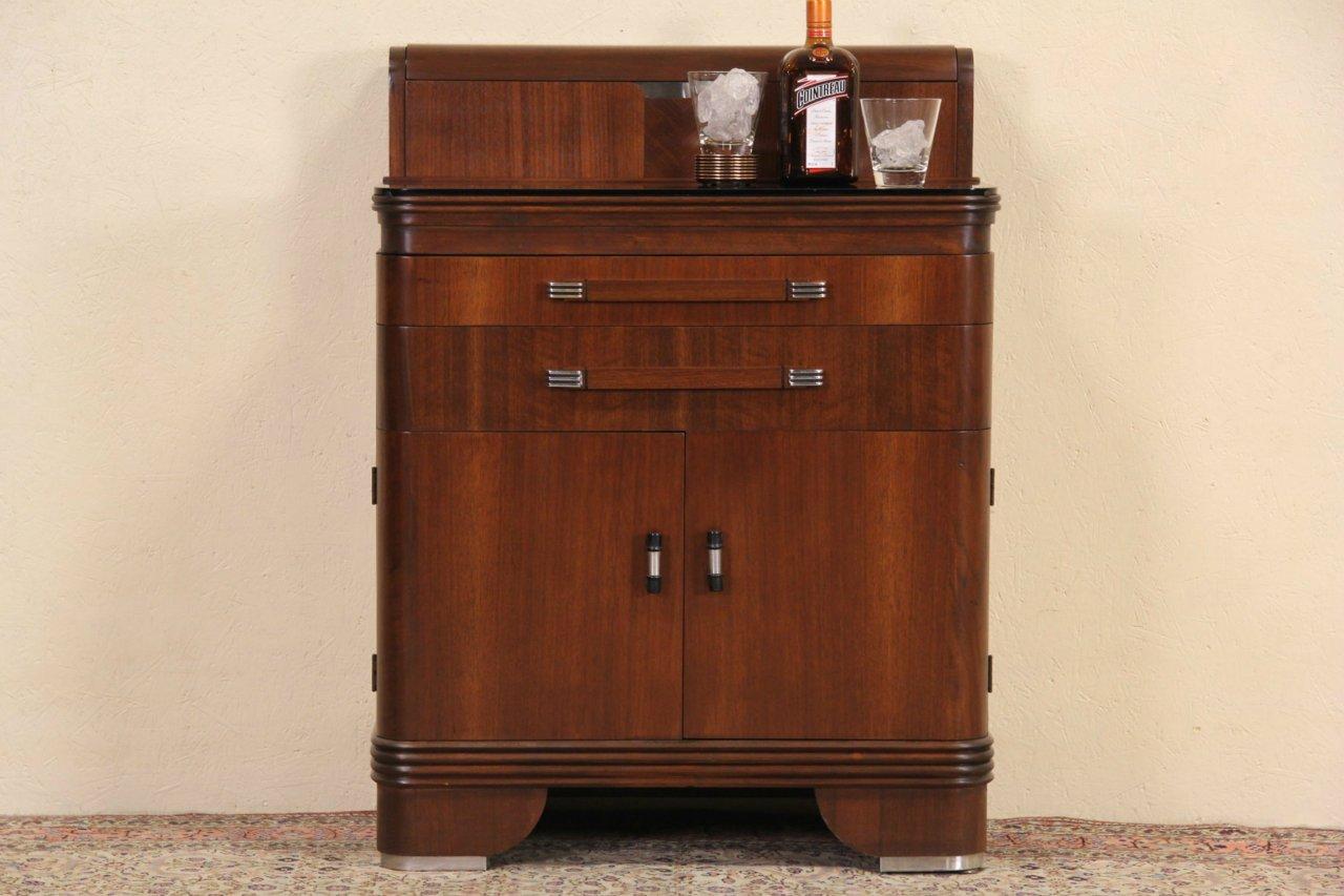 Hamilton Art Deco 1940 Vintage Medical, Dental, Bar Or Bath Cabinet